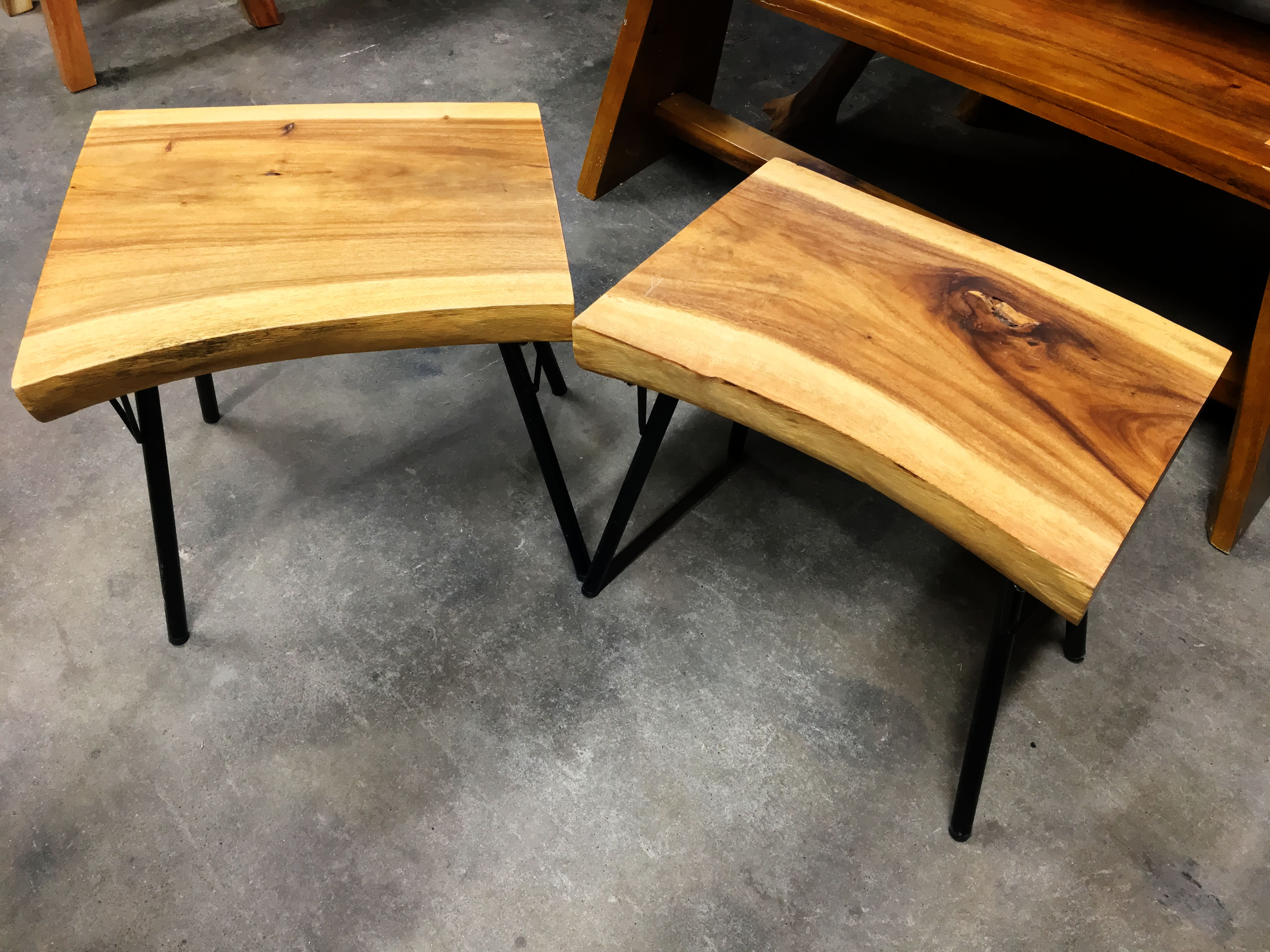 Most Up To Date Live Edge Teak Side Table – Metal Legs – Primefurniturehouston Intended For Live Edge Teak Coffee Tables (View 18 of 20)