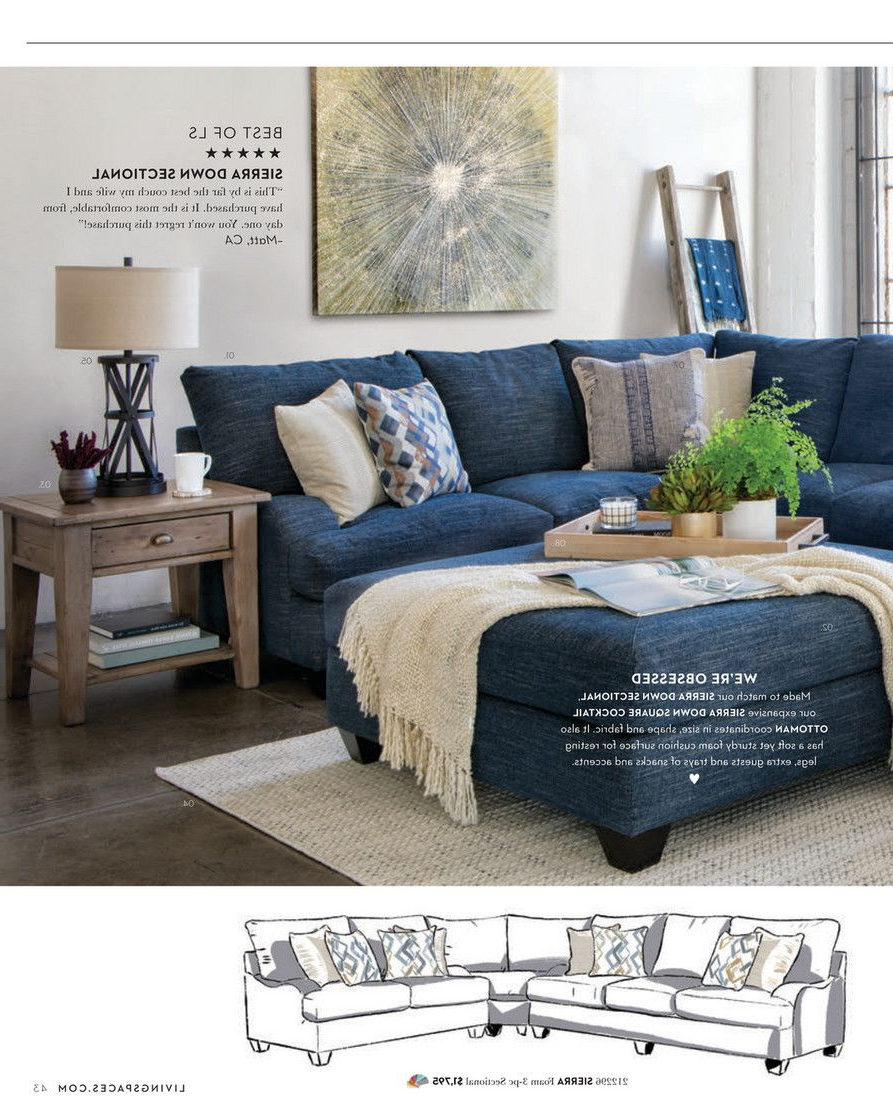 Most Up To Date Living Spaces – Fall 2018 – Sierra Down 3 Piece Sectional W/laf Throughout Sierra Foam Ii 3 Piece Sectionals (View 15 of 20)