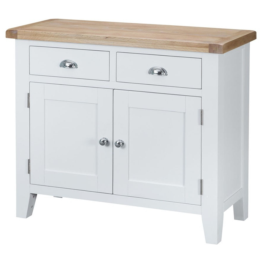 Most Up To Date Madera 2 Drawer 2 Door Wooden Sideboard – White (View 14 of 20)