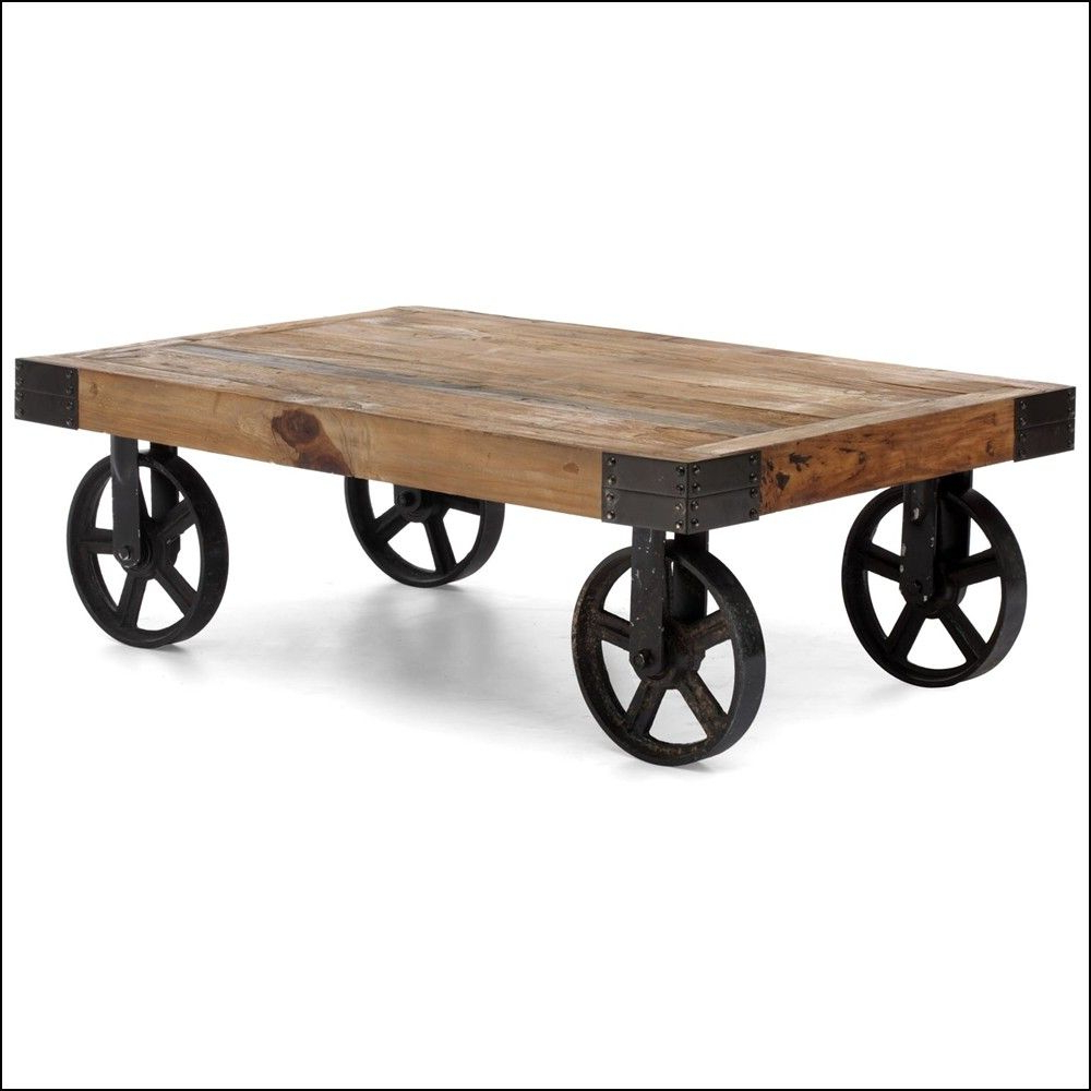 Most Up To Date Natural Wheel Coffee Tables Regarding Metal Wheels For Furniture (View 9 of 20)