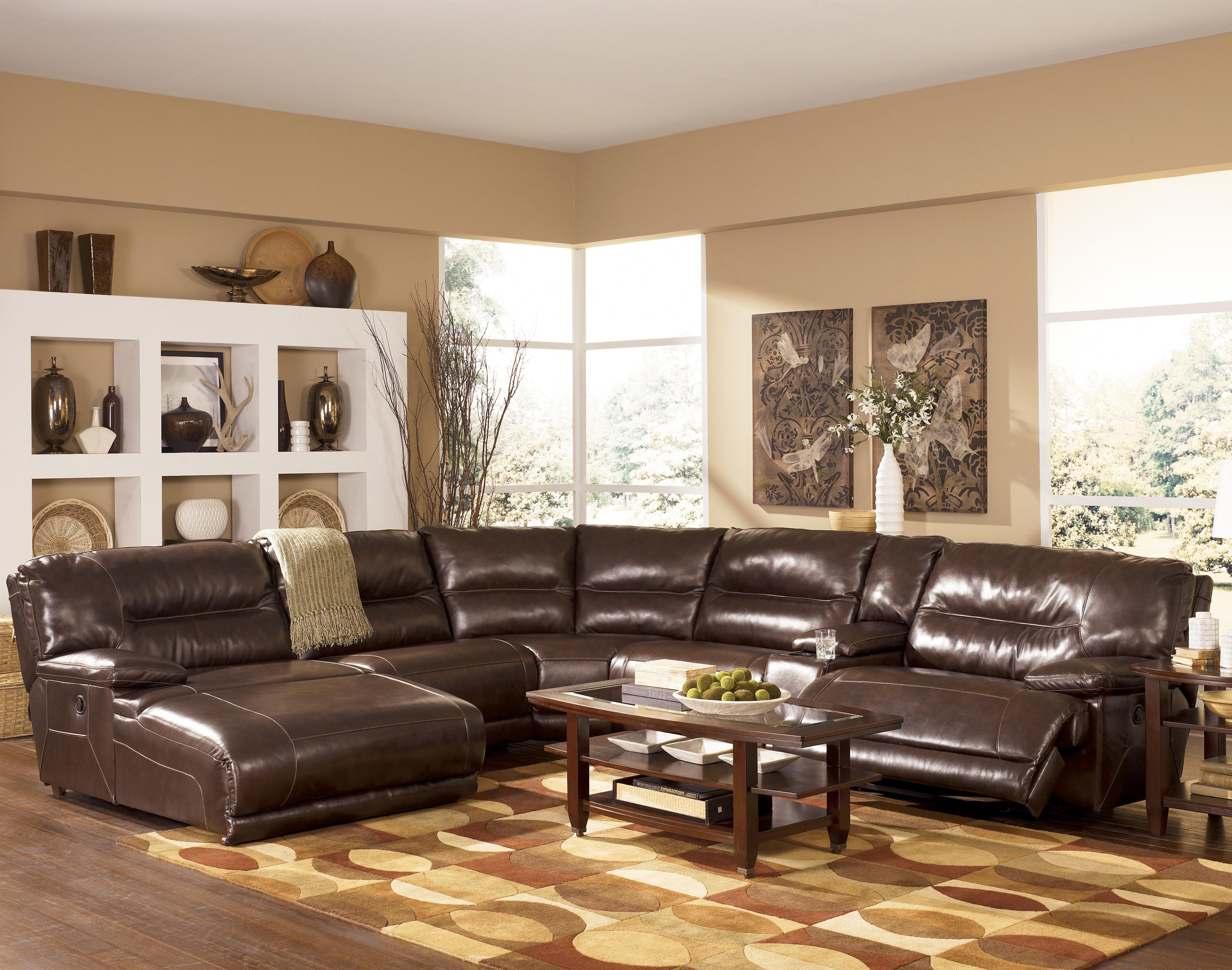 Most Up To Date Norfolk Chocolate 6 Piece Sectionals With Raf Chaise Intended For Signature Designashley Exhilaration – Chocolate Contemporary (View 12 of 20)