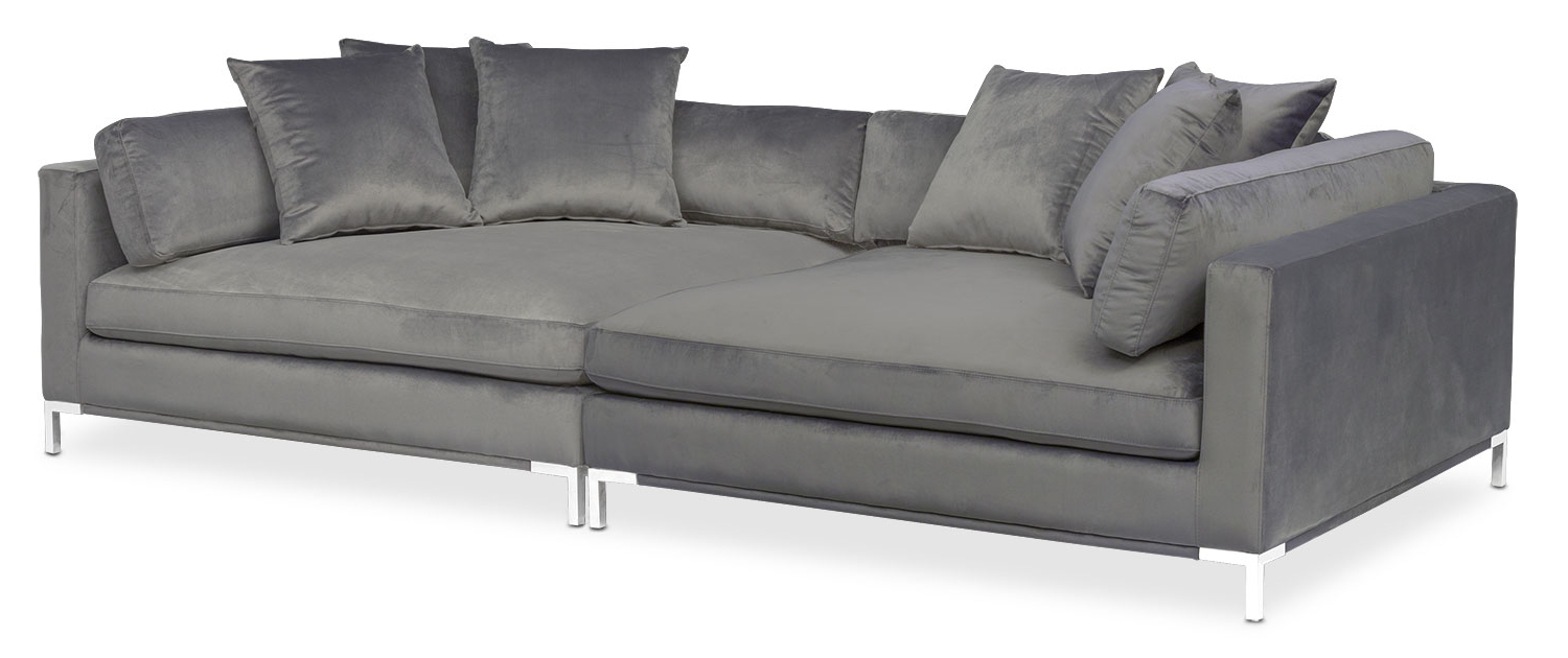Most Up To Date Norfolk Grey 6 Piece Sectionals With Laf Chaise Within Individual Modular Sofa Pieces (View 8 of 20)