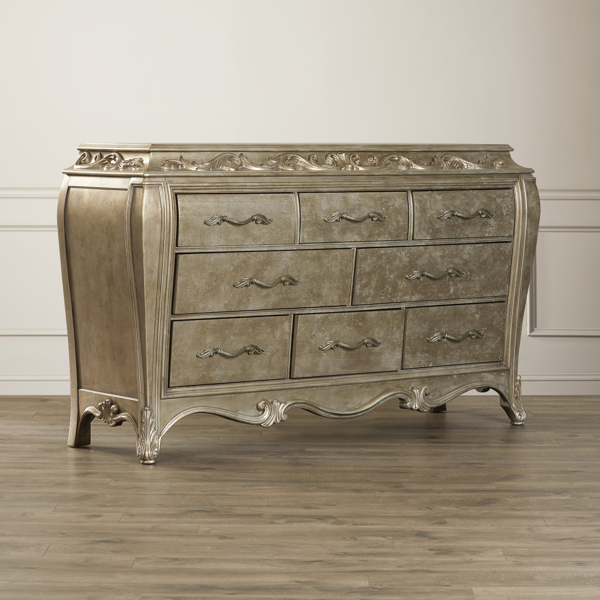 Most Up To Date Rani 4 Door Sideboards Intended For House Of Hampton Holmes 8 Drawer Dresser (View 16 of 20)