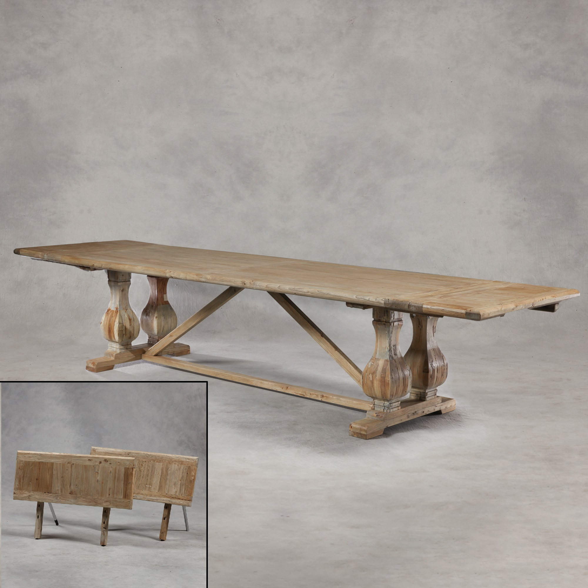 Most Up To Date Reclaimed Elm Iron Coffee Tables Within Extra Large Reclaimed Elm Extending Dining Table – The House In Town (Gallery 18 of 20)
