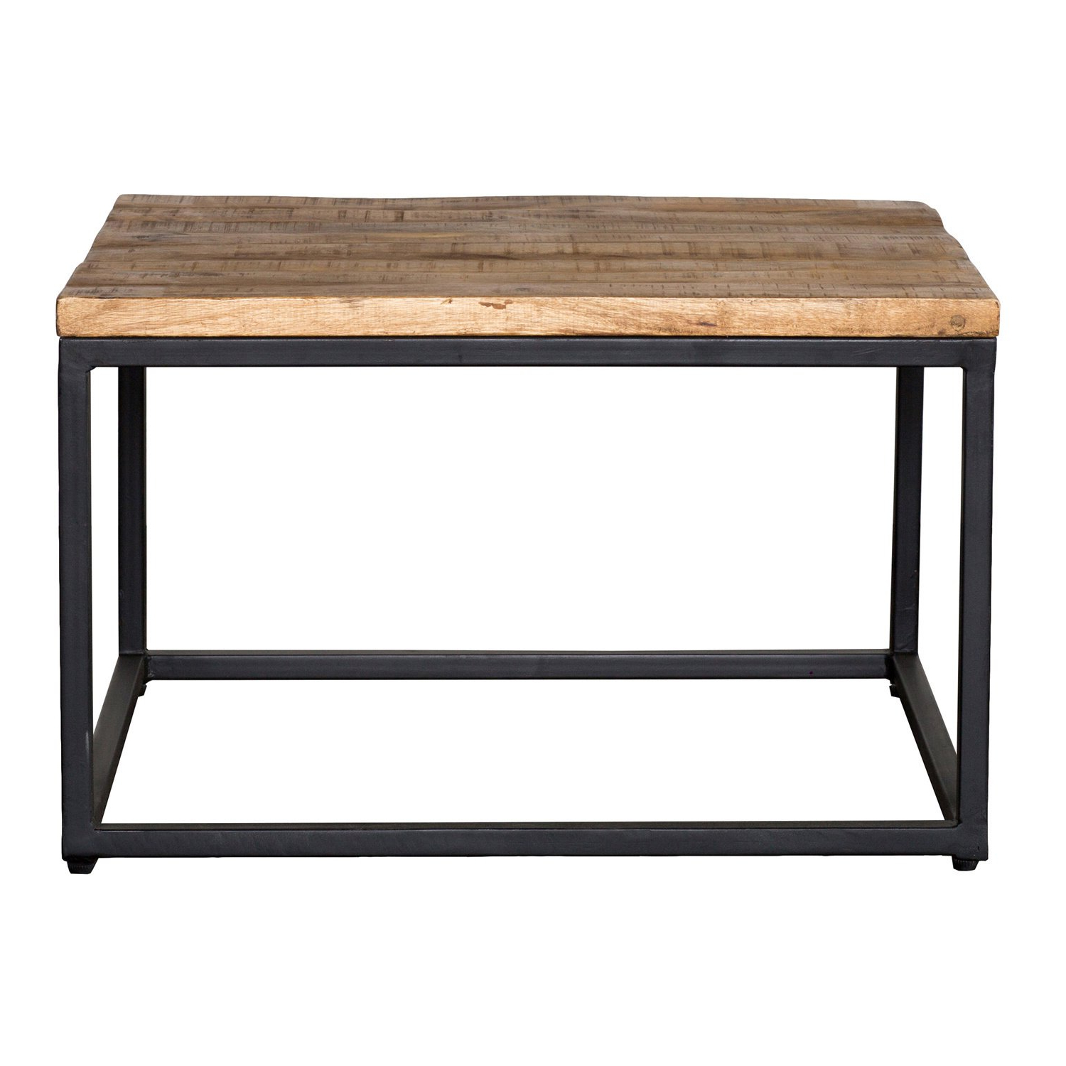 Most Up To Date Shop Paris Natural Wood And Iron 30 Inch Square Coffee Table Within Iron Wood Coffee Tables With Wheels (View 12 of 20)