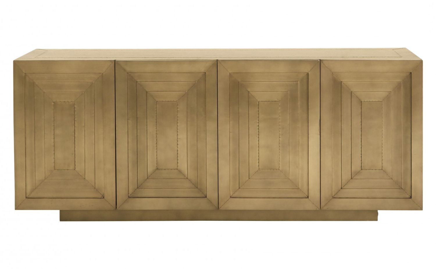 Most Up To Date Square Brass 4 Door Sideboards With Povera Sideboard (View 10 of 20)