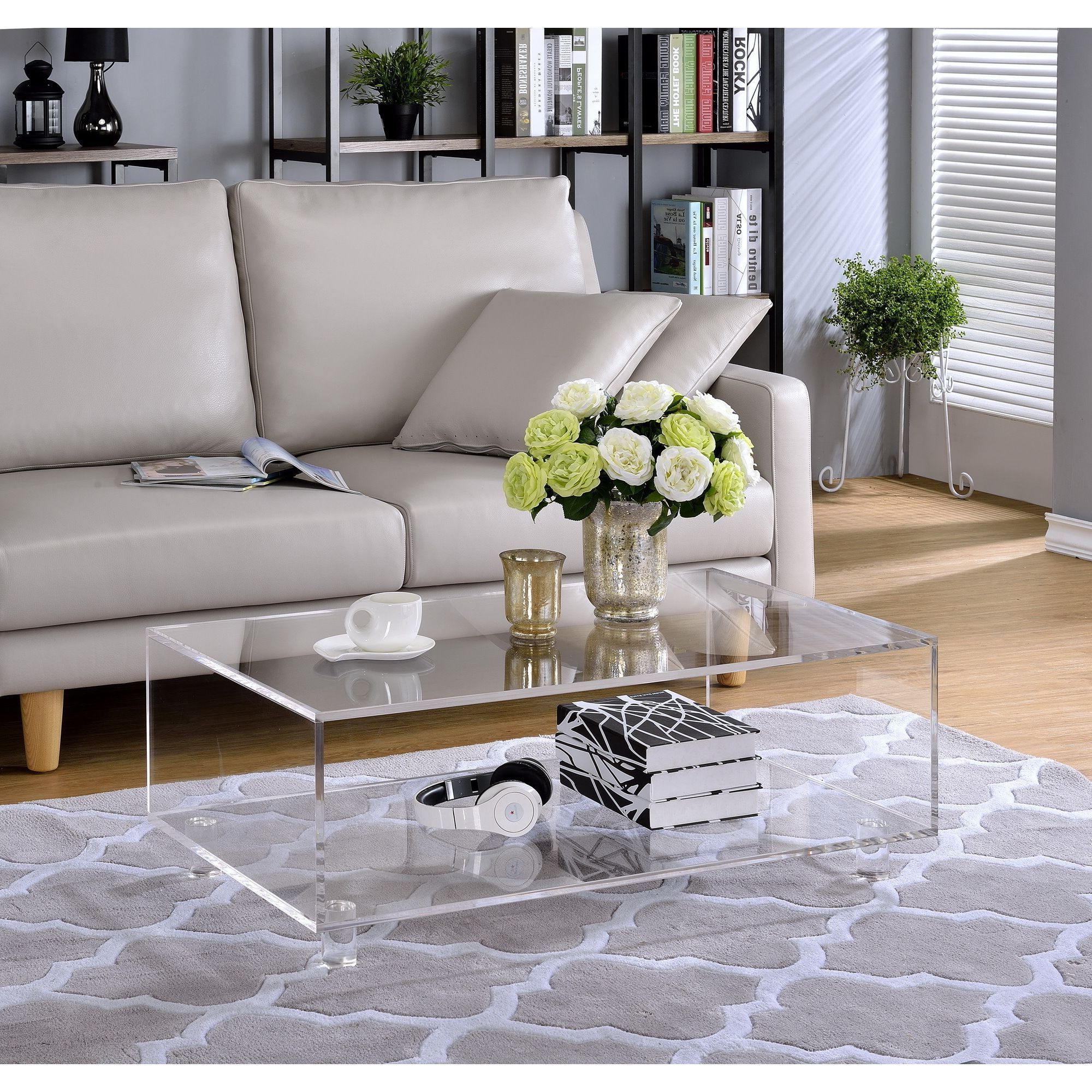 Most Up To Date Stately Acrylic Coffee Tables Pertaining To Acrylic 2 Tier Coffee Table, Clear, Fox In (View 4 of 20)