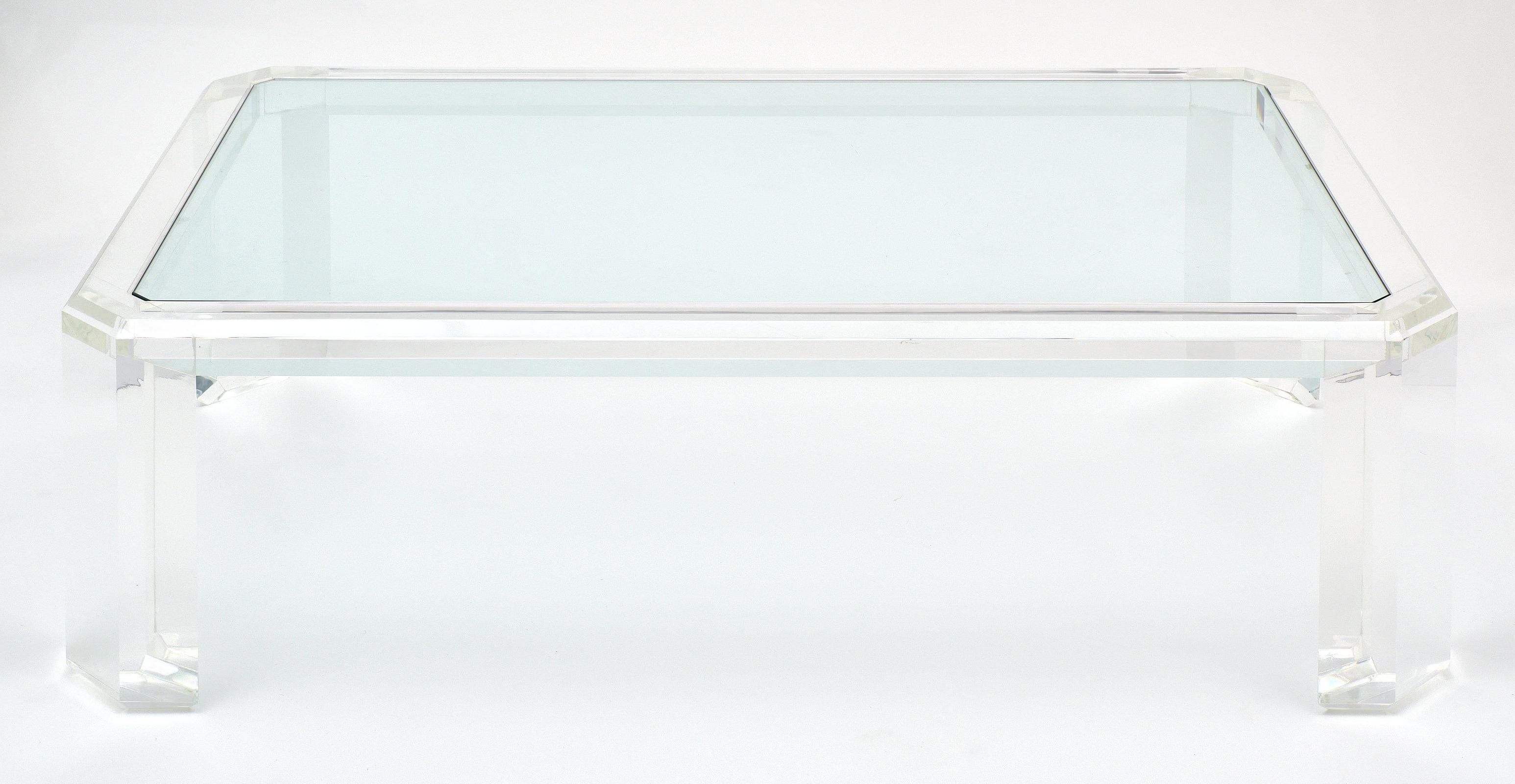 Most Up To Date Stately Acrylic Coffee Tables With Lucite French Vintage Coffee Table At 1stdibs (View 16 of 20)