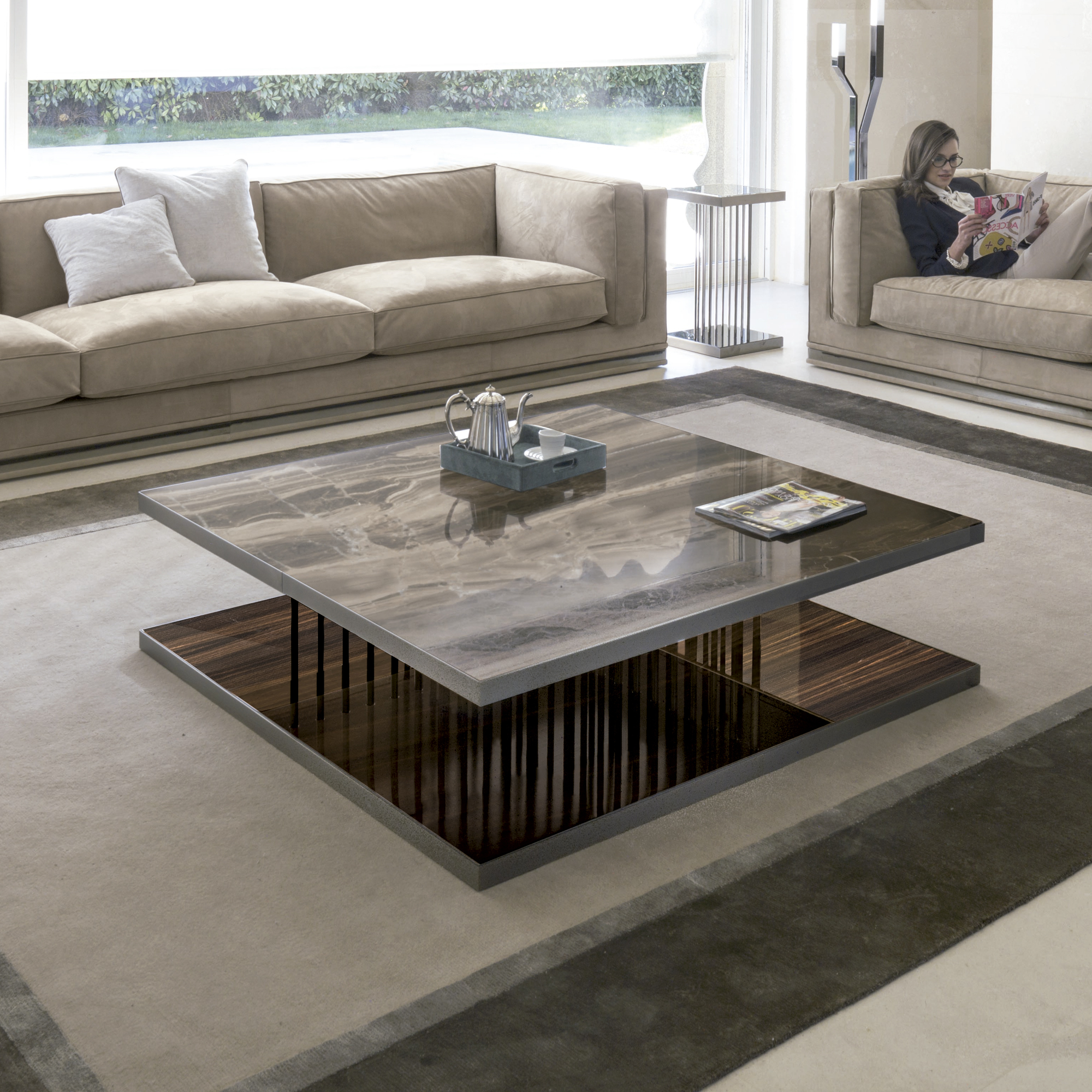 Most Up To Date Suspend Ii Marble And Wood Coffee Tables Within Hopper Coffee Table (View 7 of 20)