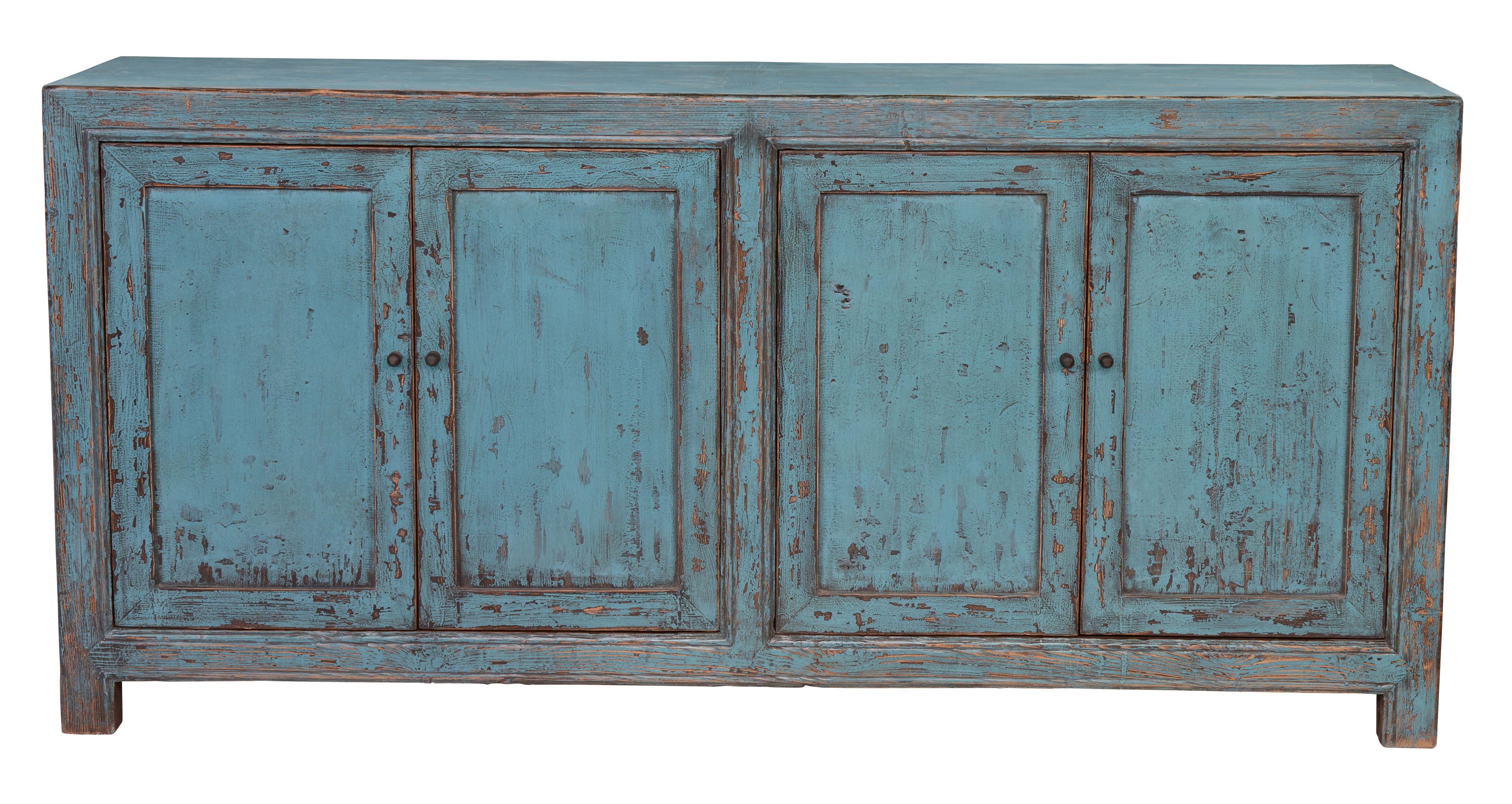 Most Up To Date Tapscott Reclaimed Pine 4 Door Sideboard & Reviews (View 8 of 20)
