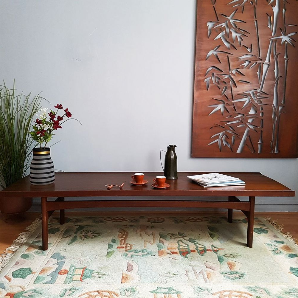 Most Up To Date Tove & Edvard Kindt Larsen Large Teak Coffee Table Throughout Large Teak Coffee Tables (View 11 of 20)