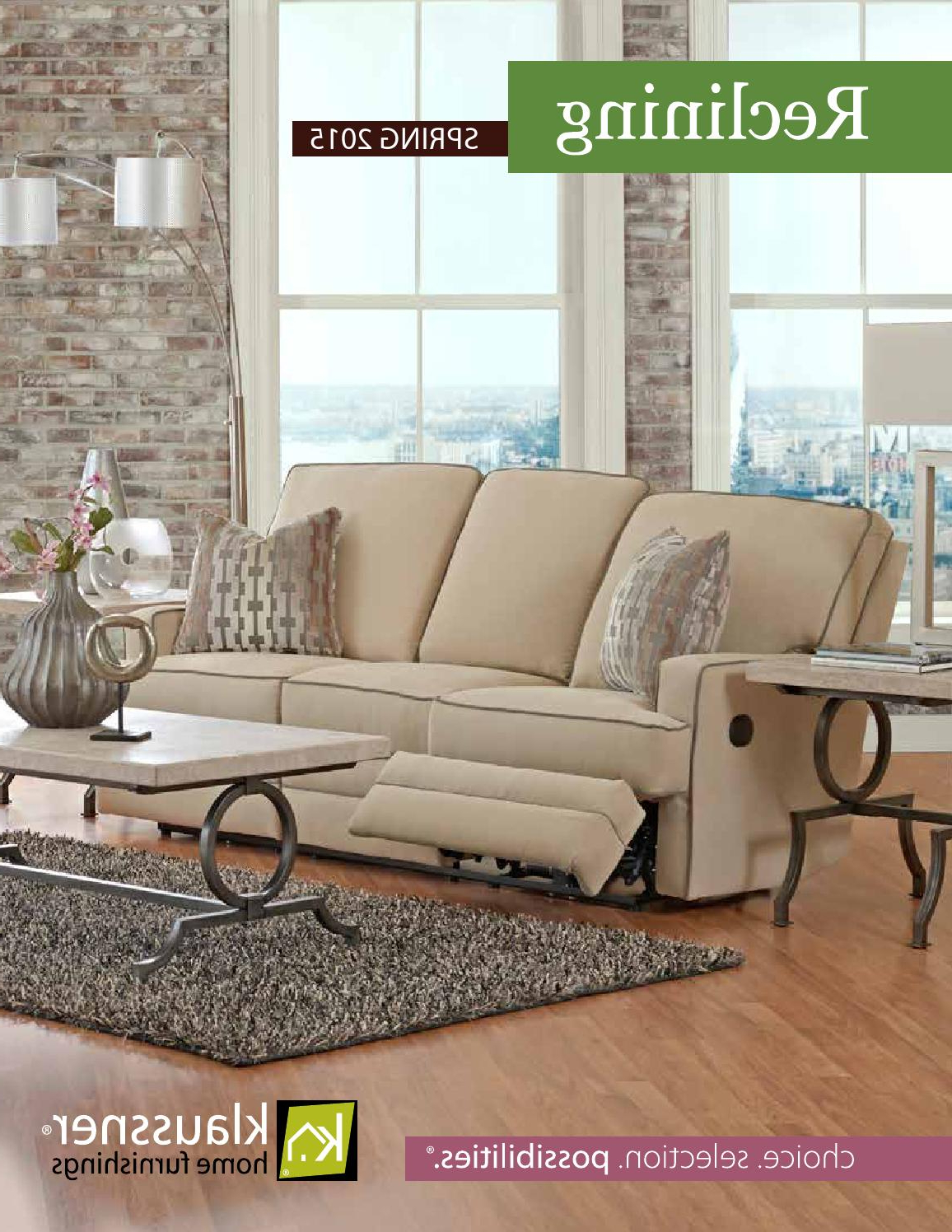Most Up To Date Travis Cognac Leather 6 Piece Power Reclining Sectionals With Power Headrest & Usb With Regard To Reclining 2015 Catalogklaussner Home Furnishings – Issuu (View 13 of 20)