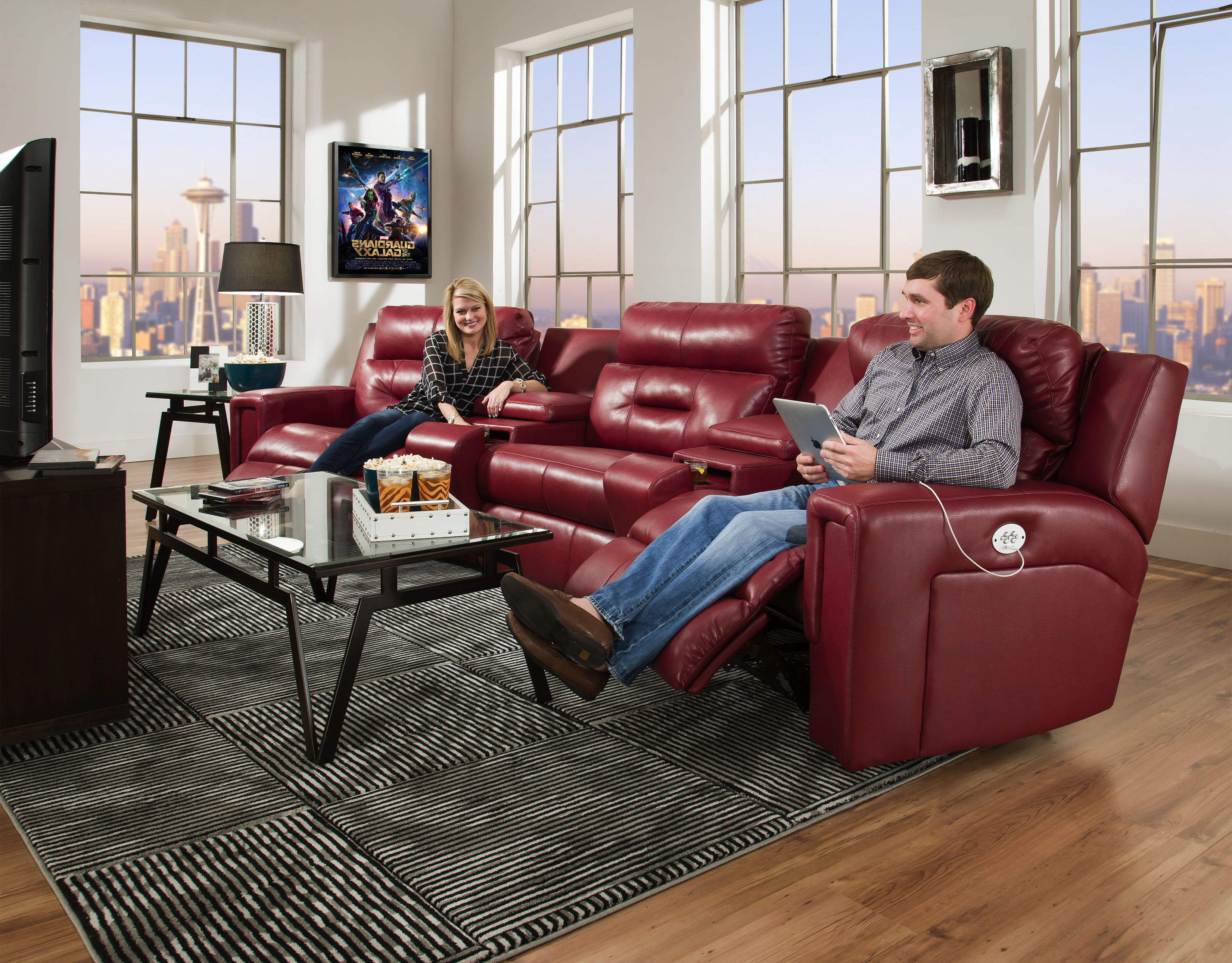 Most Up To Date Travis Cognac Leather 6 Piece Power Reclining Sectionals With Power Headrest & Usb Within Southern Motion Furniture Products (View 4 of 20)