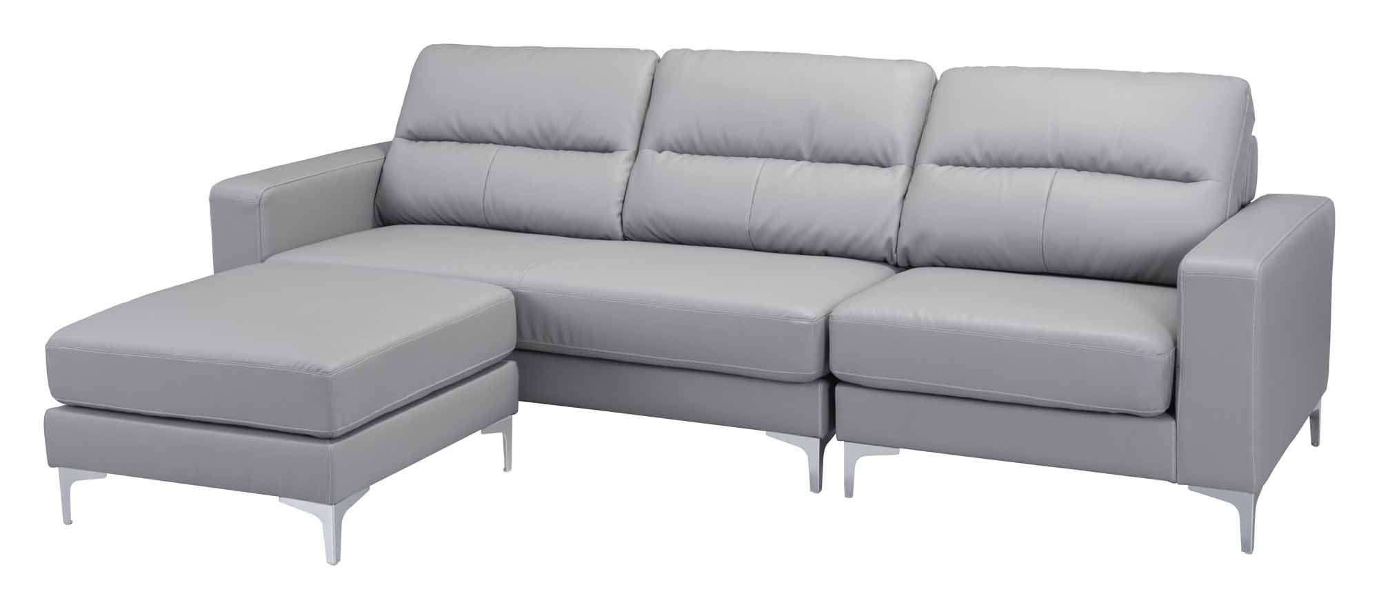 Most Up To Date Versa Sectional Grayzuo Modern Throughout Marius Dark Grey 3 Piece Sectionals (View 15 of 20)
