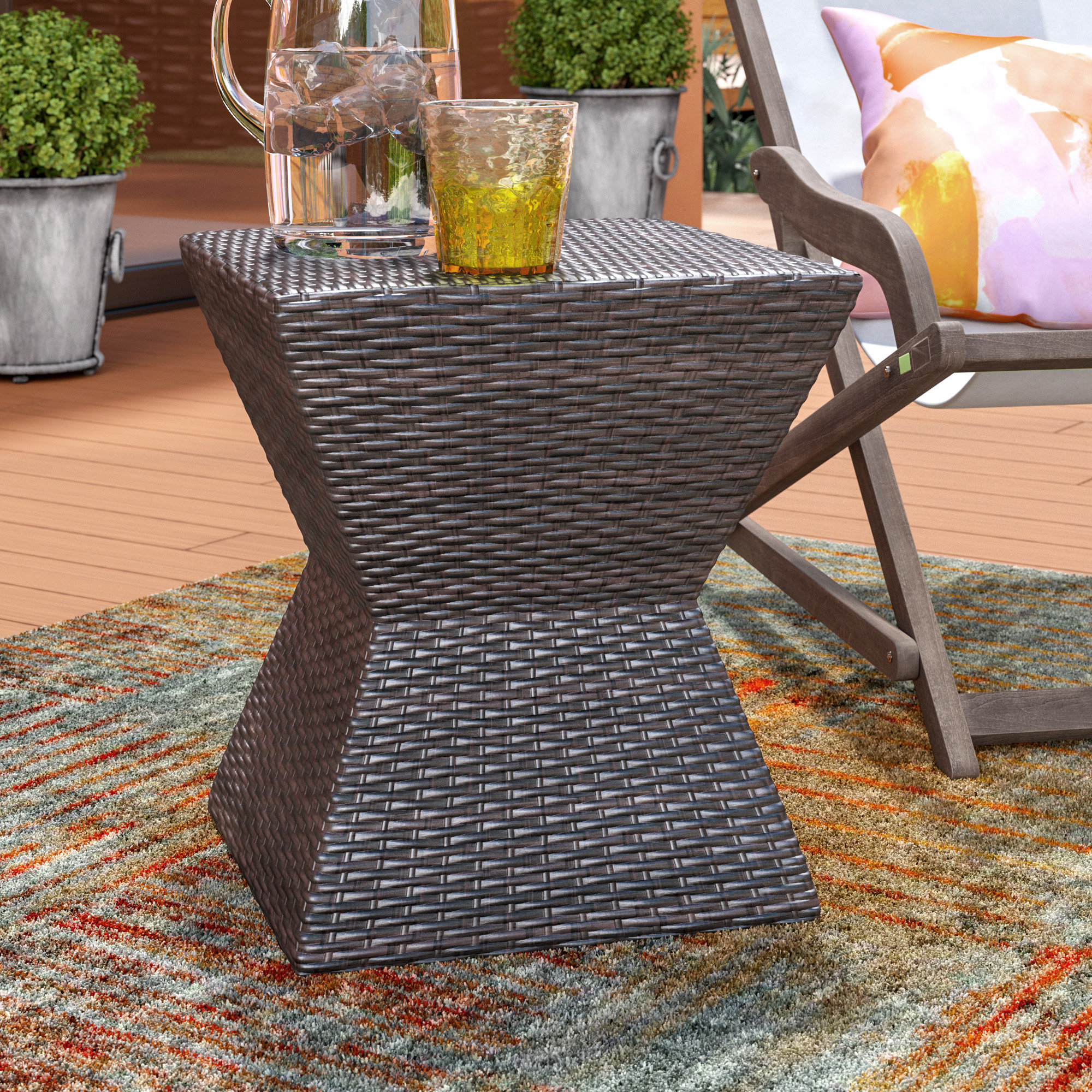 Most Up To Date Wrought Studio Pasternak Outdoor End Table & Reviews (Gallery 17 of 20)