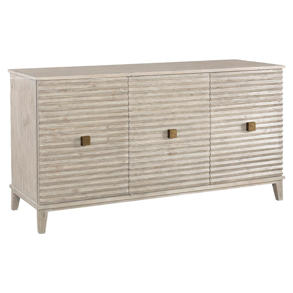 Mr. Brown Belmont Modern Classic Rustic White Corrugated Sideboard Inside Fashionable Corrugated Natural 6 Door Sideboards (Gallery 2 of 20)