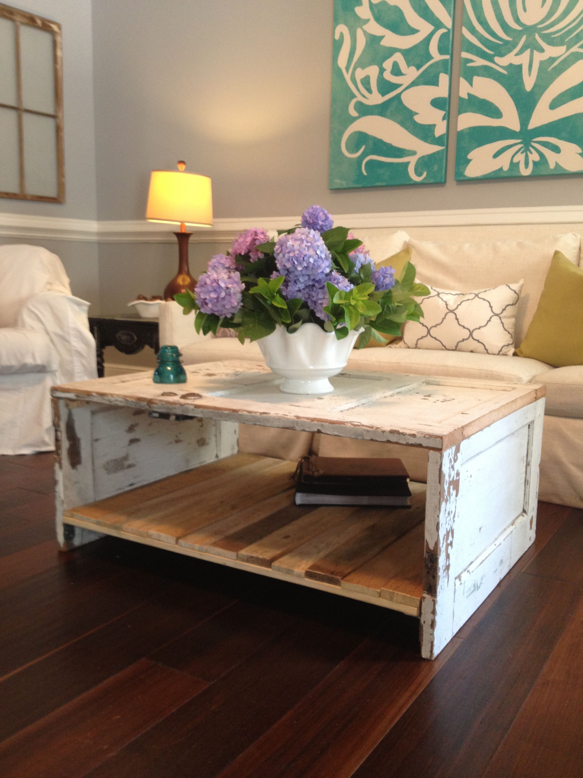 Natural 2 Drawer Shutter Coffee Tables With Well Known Coffee Table Made From An Old Door! (View 9 of 20)