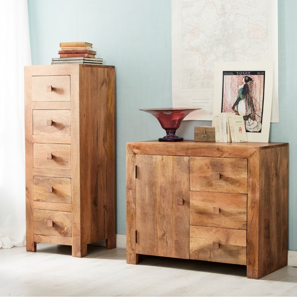 Natural Mango Wood Finish Sideboards With Regard To Most Recent Solid Mango Wood Maiko Small Sideboard (View 13 of 20)
