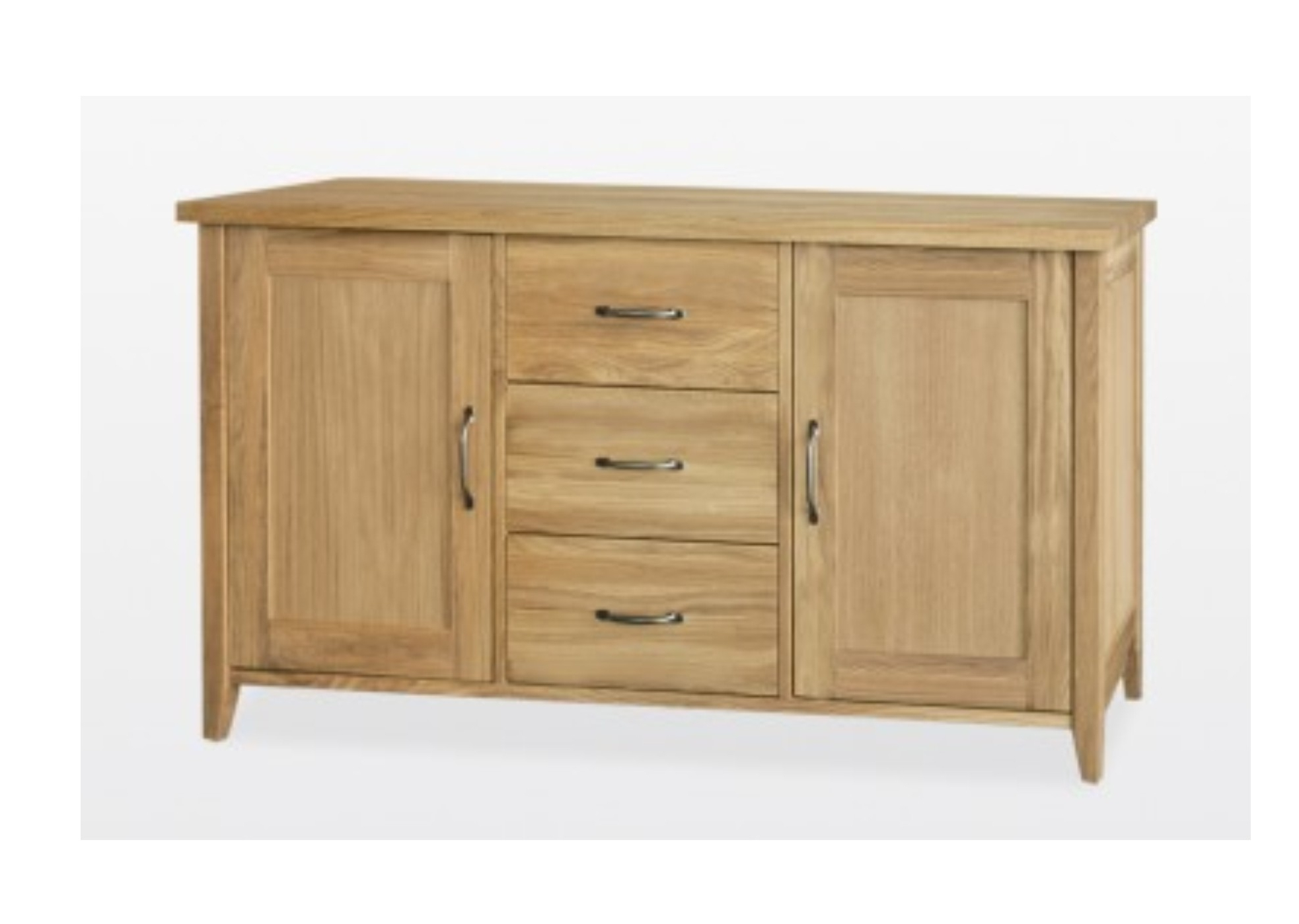 Natural Oak Wood 2 Door Sideboards Regarding Well Liked Windsor Oak 2 Door 3 Drawer Sideboard Oak And Various Wood Finishes (View 17 of 20)