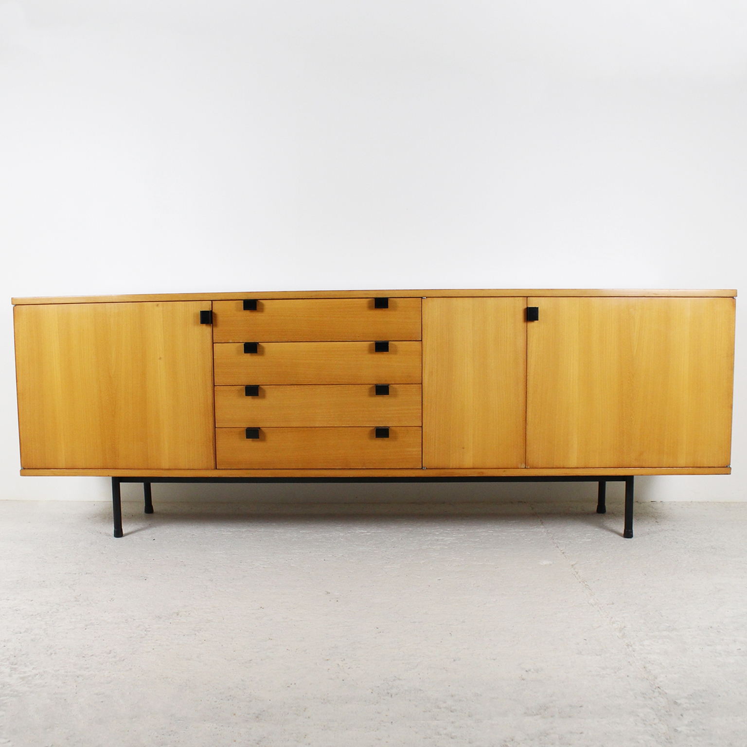 Natural Oak Wood 78 Inch Sideboards Intended For Favorite 1950's Sideboardalain Richard (View 10 of 20)