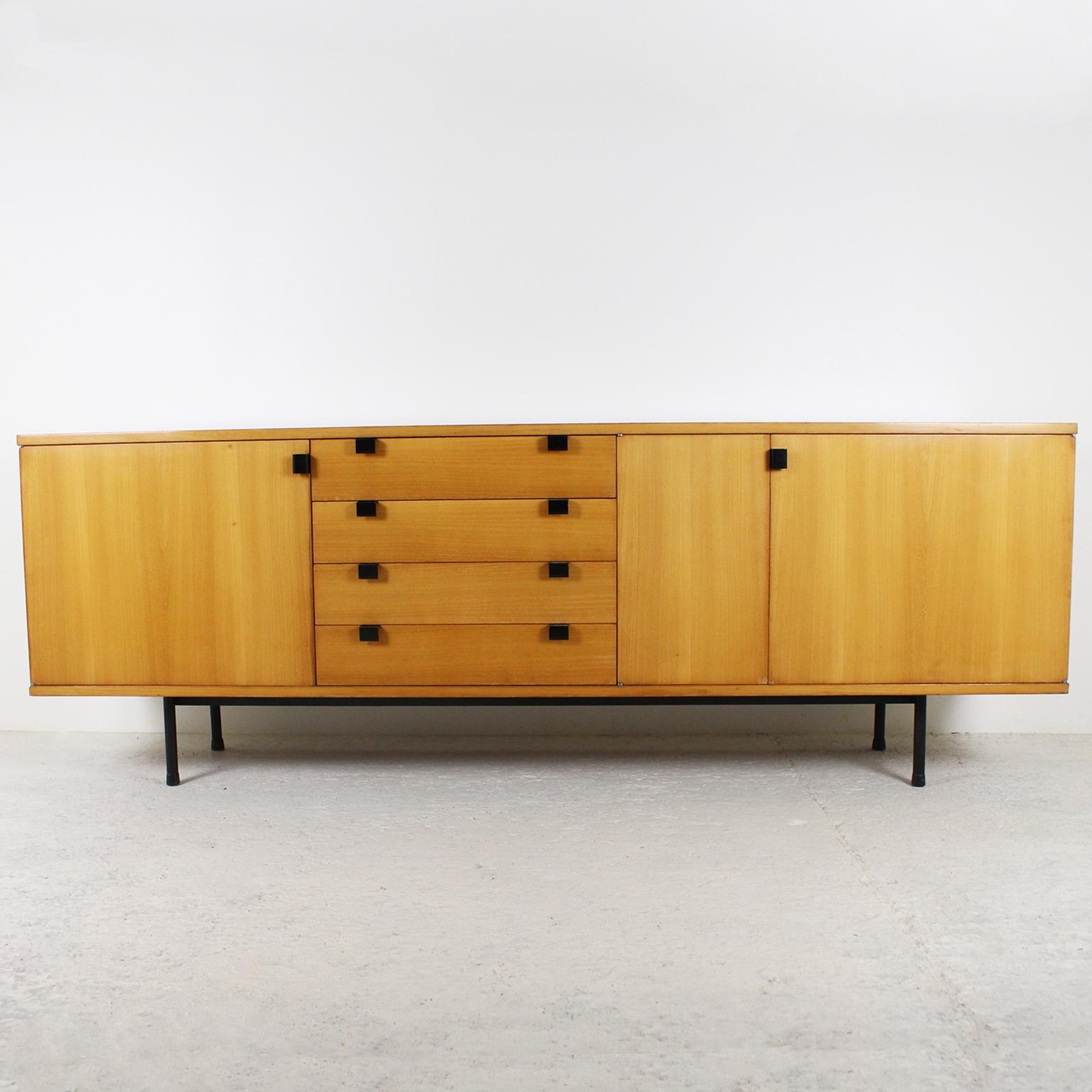 Natural Oak Wood 78 Inch Sideboards Intended For Favorite 1950's Sideboardalain Richard (Gallery 6 of 20)