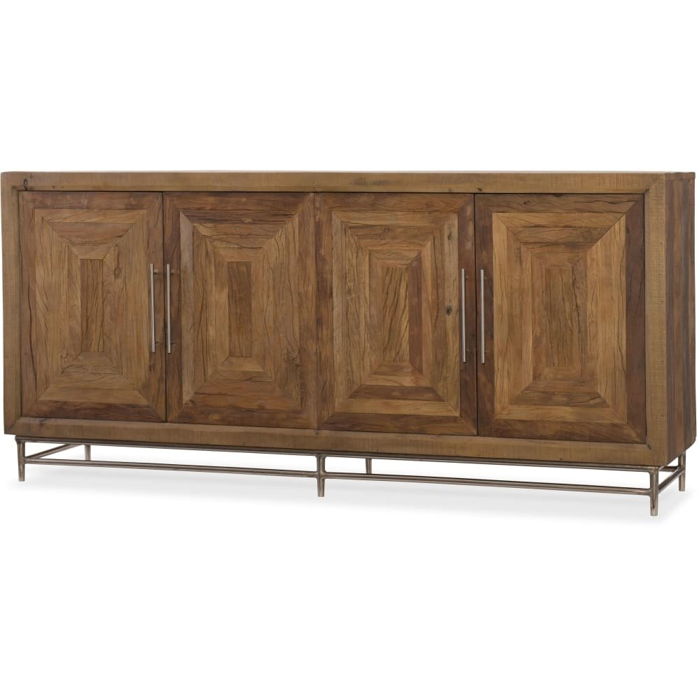 Natural Oak Wood 78 Inch Sideboards Throughout Well Liked Shop Hooker Furniture 5950 85151 Mwd 78 Inch Wide Hardwood Buffet (View 11 of 20)