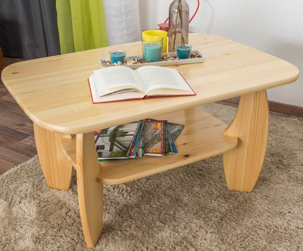 Natural Pine Coffee Tables In Well Known Coffee Table Solid, Natural Pine Wood 005 – Dimensions 60 X 110 X  (View 10 of 20)