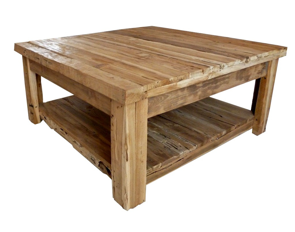 Natural Pine Coffee Tables Intended For Fashionable Coffee Table: Awesome Rustic Square Coffee Table Rustic End Table (View 11 of 20)