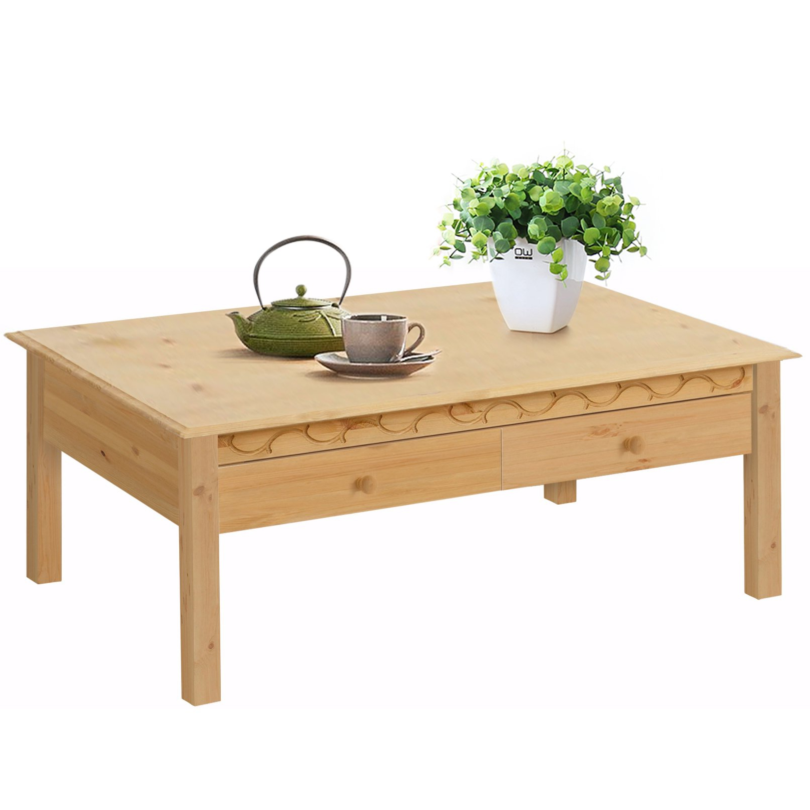 Natural Pine Coffee Tables With Most Recent Lando 1 Drawer Coffee Table, Solid Pine, Natural – Free Shipping (View 12 of 20)