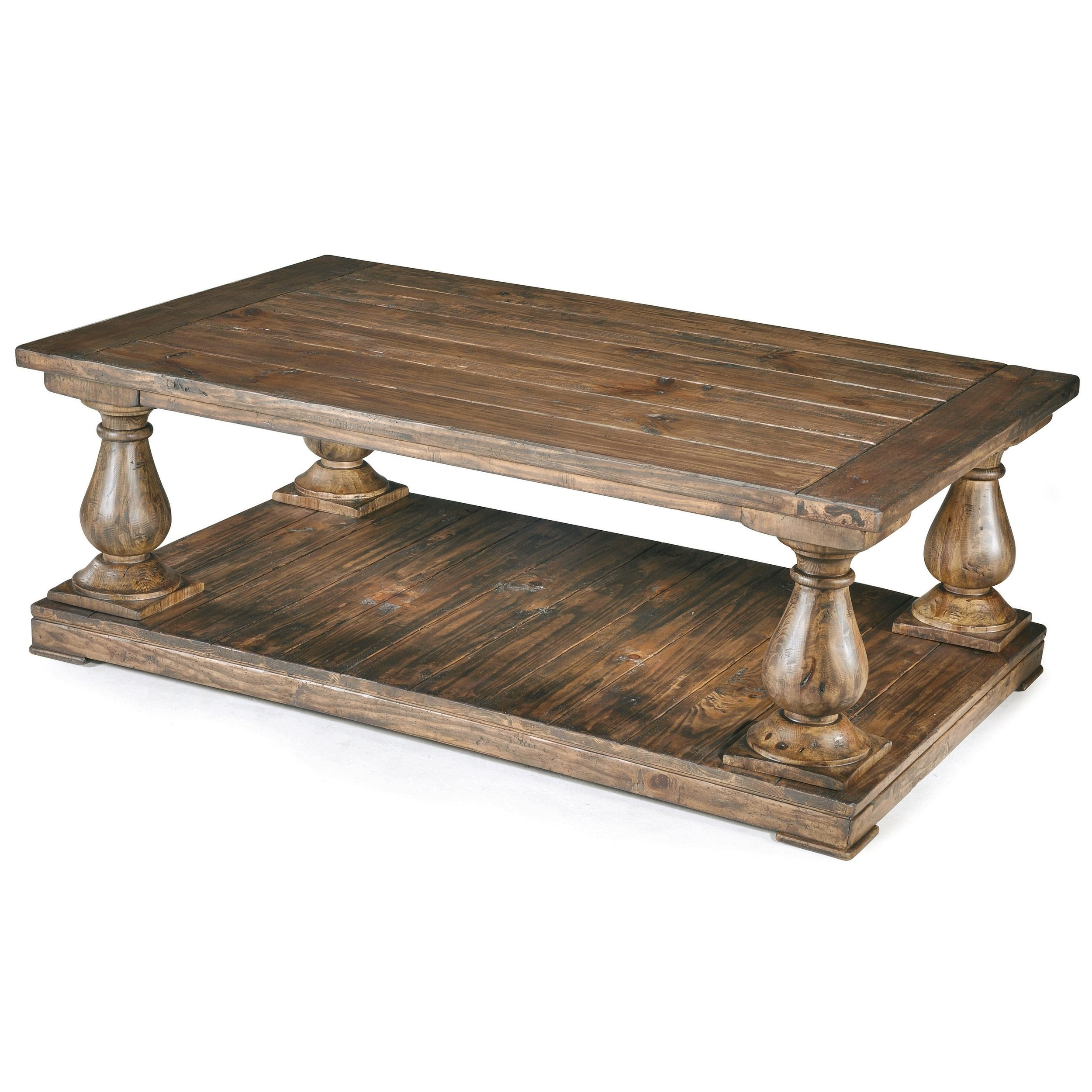 Natural Pine Coffee Tables With Regard To Latest Shop Densbury Traditional Rustic Natural Pine Coffee Table – On Sale (View 15 of 20)