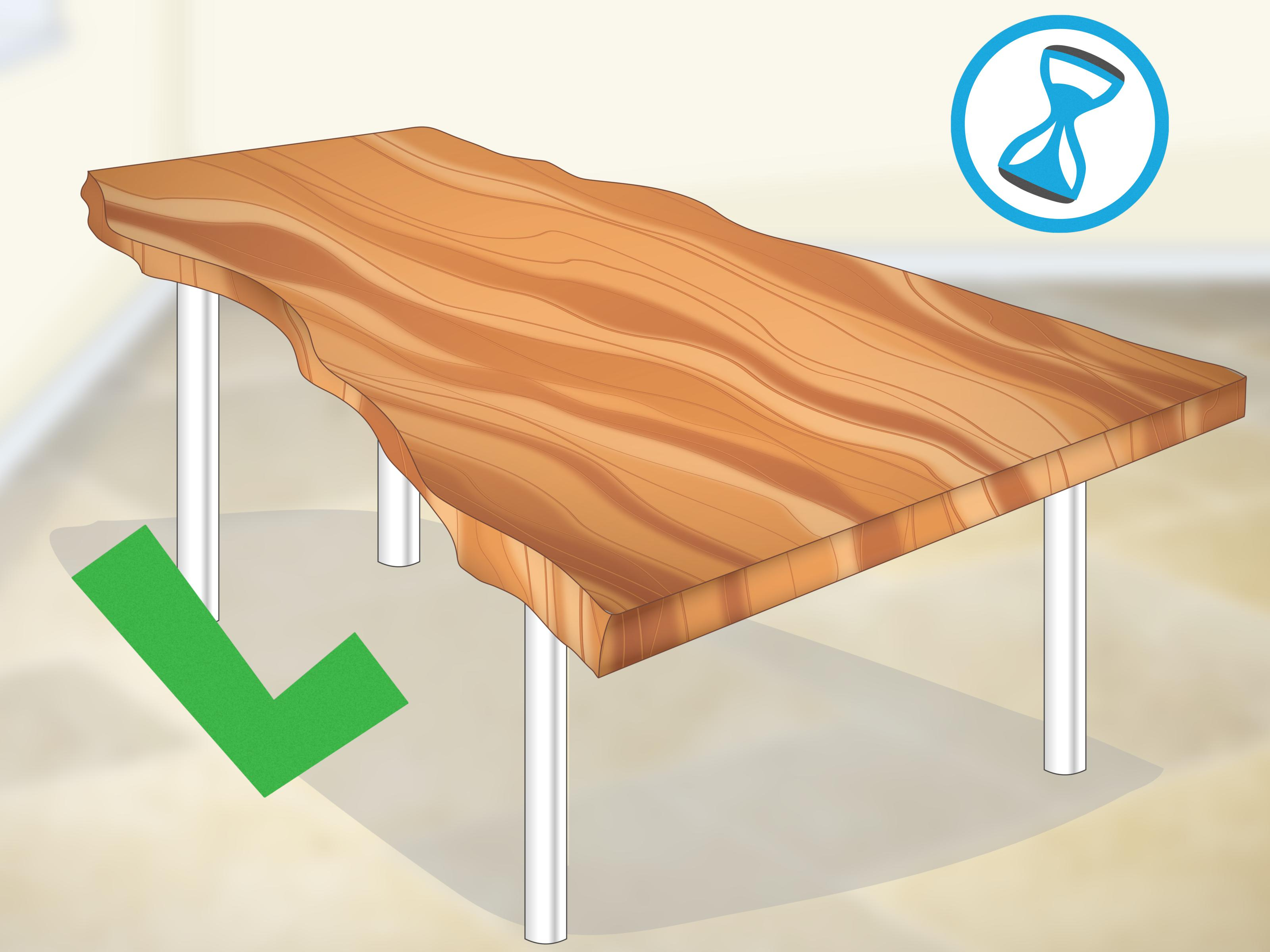 Natural Wheel Coffee Tables Within Most Up To Date How To Finish Live Edge Slabs (With Pictures) – Wikihow (Gallery 16 of 20)