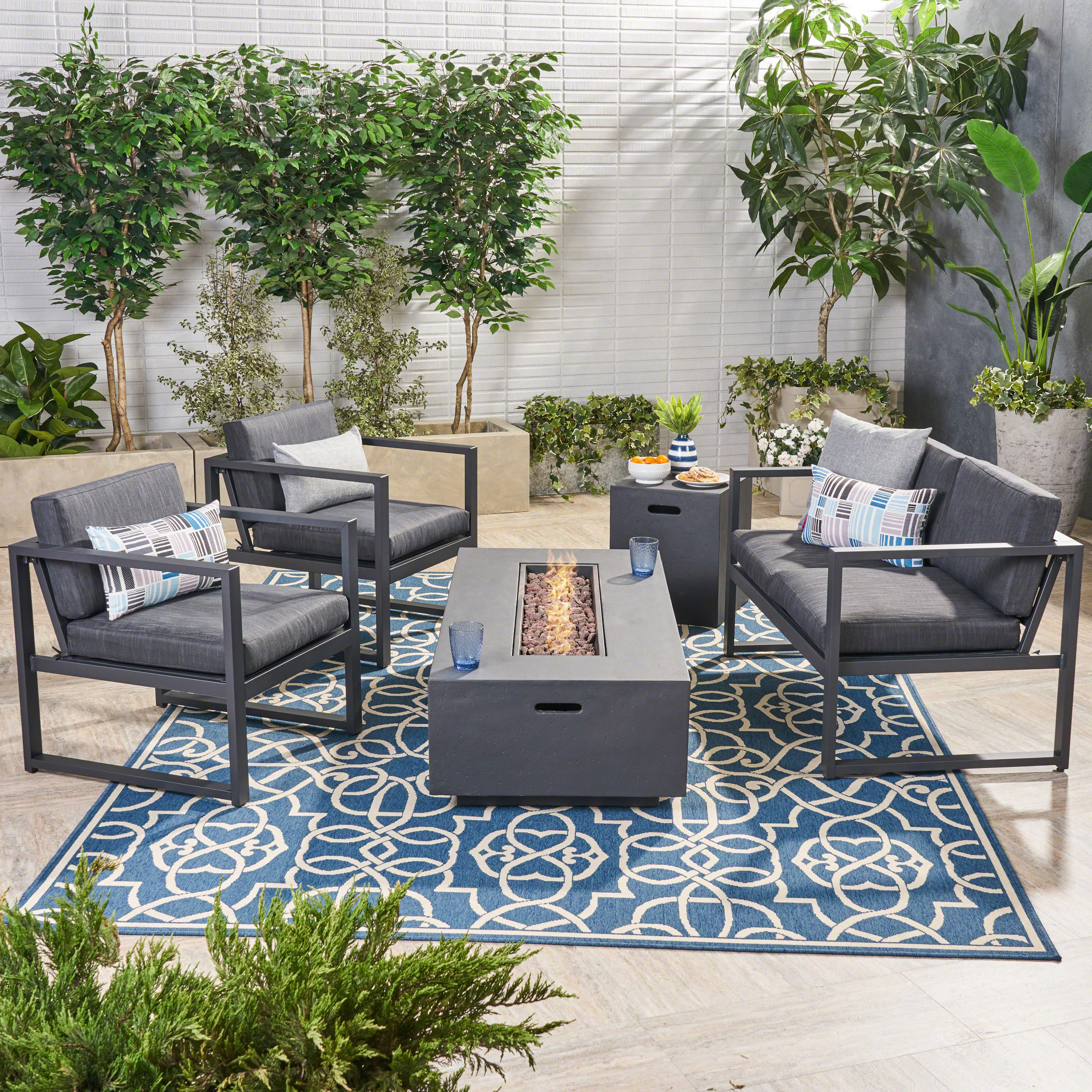 Naveen Coffee Tables With Regard To Most Up To Date Naveen 5 Piece Sofa Seating Group With Cushions (Gallery 4 of 20)