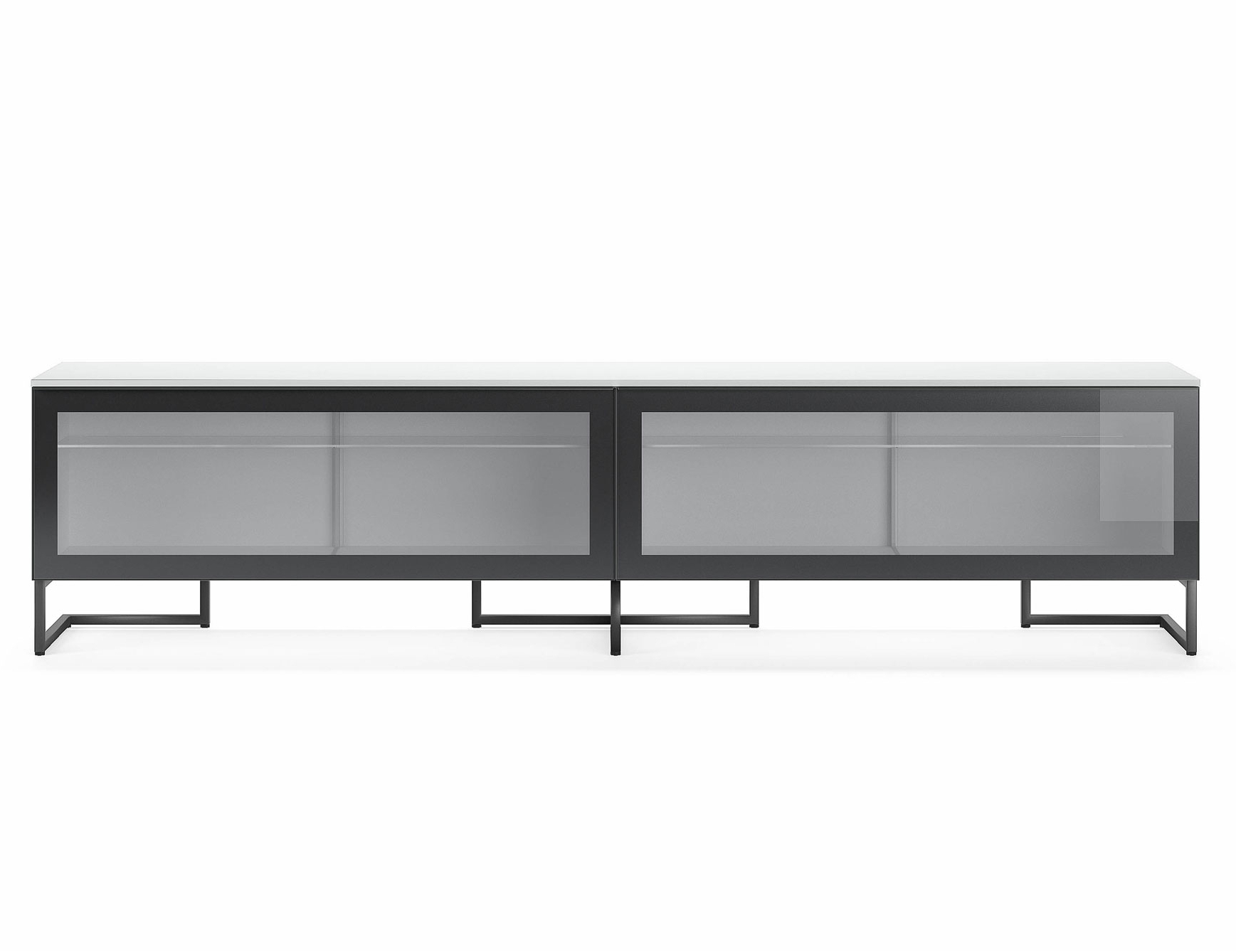 Nella Vetrina Pianca Spazio Sgm240 Contemporary Italian Tv Unit In Throughout Well Known Black Burnt Oak Sideboards (View 11 of 20)