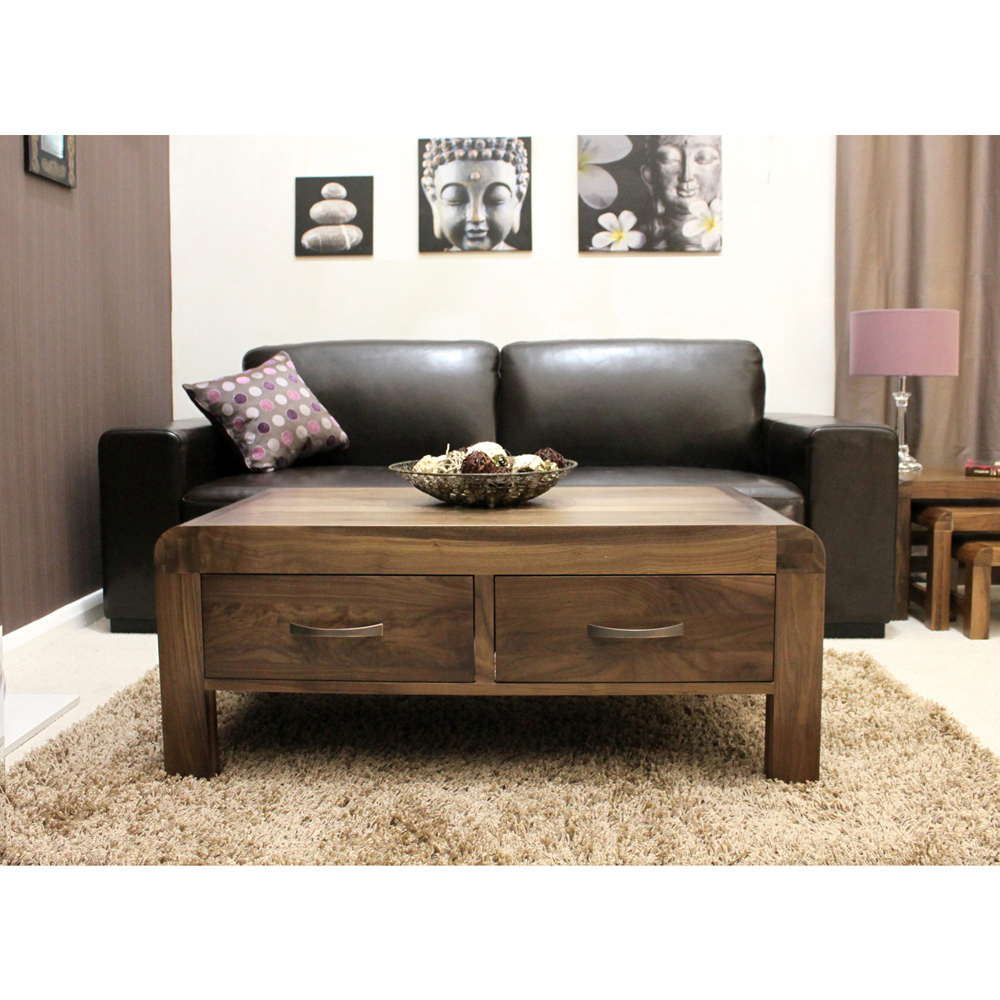 Nepal Walnut 4 Drawer Coffee Table In 2018 Walnut 4 Drawer Coffee Tables (View 11 of 20)