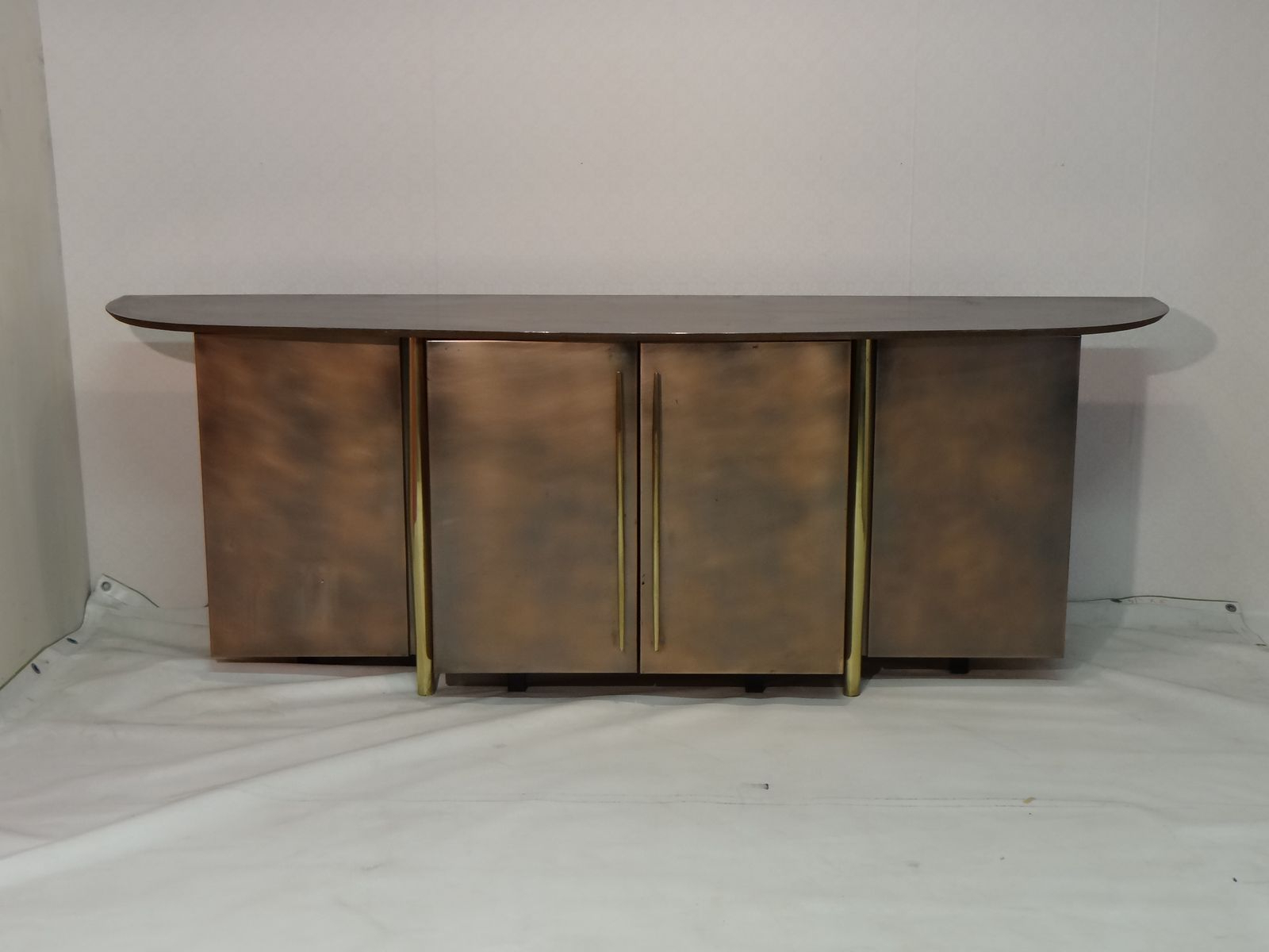 Newest Aged Brass Sideboards Regarding Vintage Brass Sideboard From Belgo Chrom For Sale At Pamono (Gallery 2 of 20)