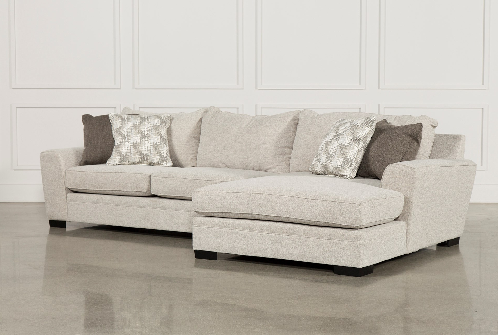 Newest Aquarius Light Grey 2 Piece Sectionals With Laf Chaise For Living Spaces Sectional Couches – Tidex (View 12 of 20)