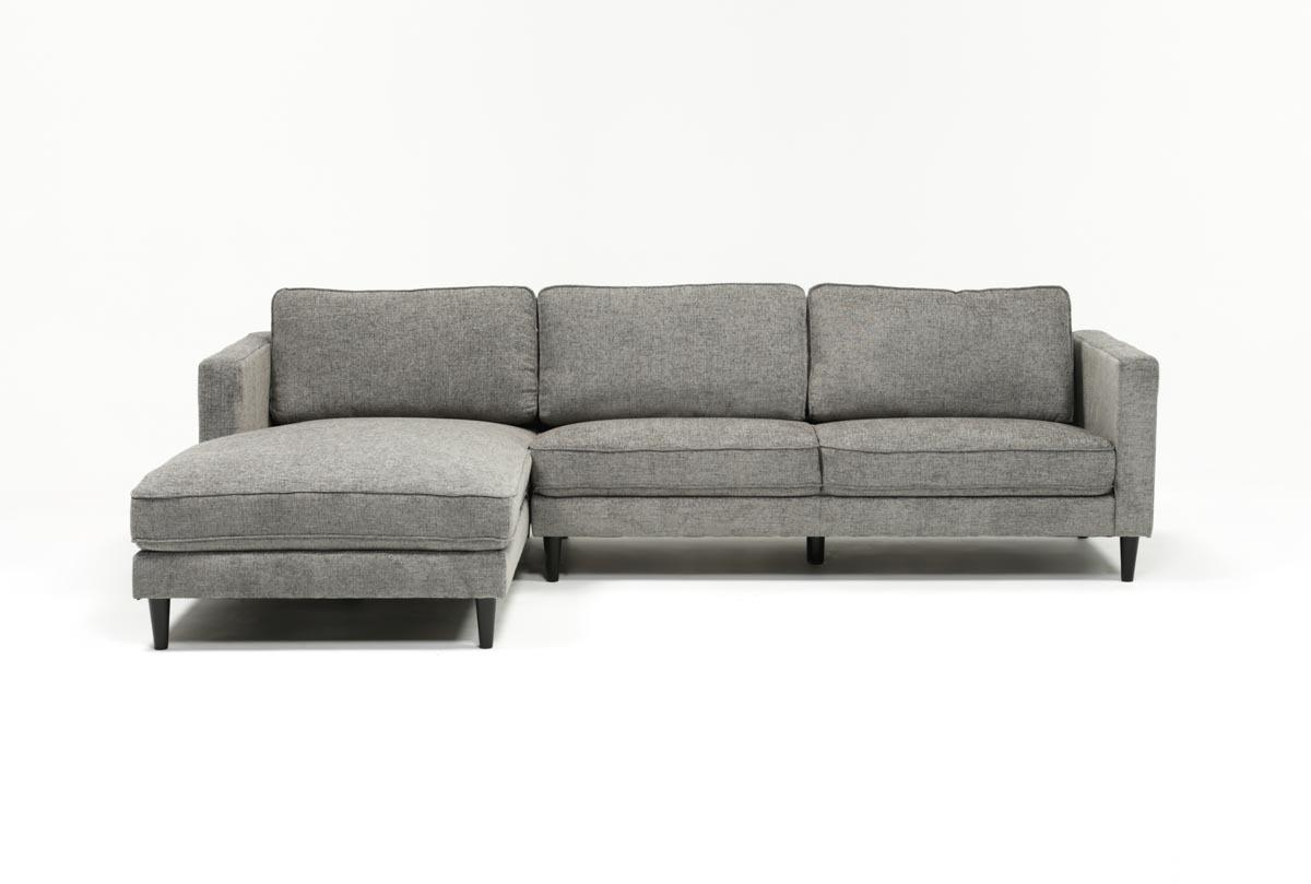 Newest Aquarius Light Grey 2 Piece Sectionals With Laf Chaise Throughout Cosmos Grey 2 Piece Sectional W/raf Chaise (Gallery 2 of 20)