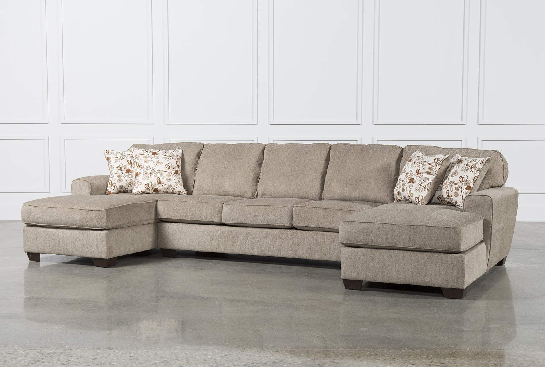 Newest Ashley Patola Park 3 Piece Sectional W/2 Corner Chaises, Brown Inside Malbry Point 3 Piece Sectionals With Laf Chaise (View 19 of 20)