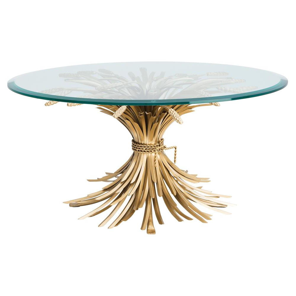 Newest Bale Rustic Grey Round Cocktail Tables With Storage Throughout Eichholtz Bonheur Hollywood Regency Gold Iron Round Beveled Glass (Gallery 20 of 20)