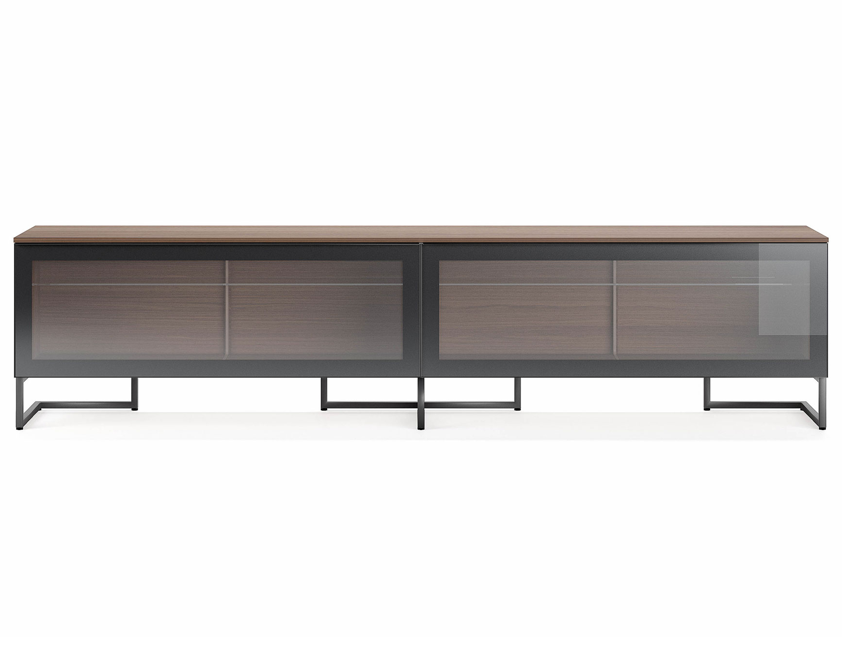 Newest Black Burnt Oak Sideboards Regarding Nella Vetrina Pianca Spazio Sgm240 Contemporary Italian Tv Unit In (View 12 of 20)
