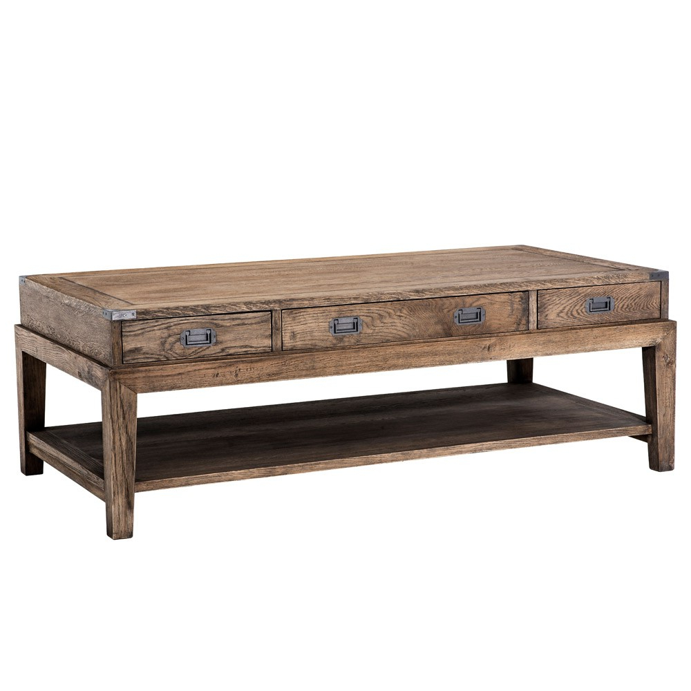 Newest Eichholtz Military Coffee Table – Smoked Oak (View 13 of 20)