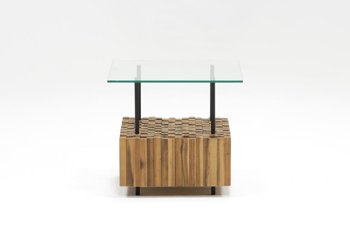 Newest Flat Black And Cobre Coffee Tables Throughout Nutmeg & Metal Adjustable Side Table (View 14 of 20)