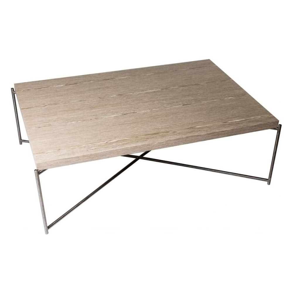 Newest Gunmetal Coffee Tables In Buy Weathered Oak Rectangular Coffee Table & Gunmetal At Fusion Living (View 18 of 20)