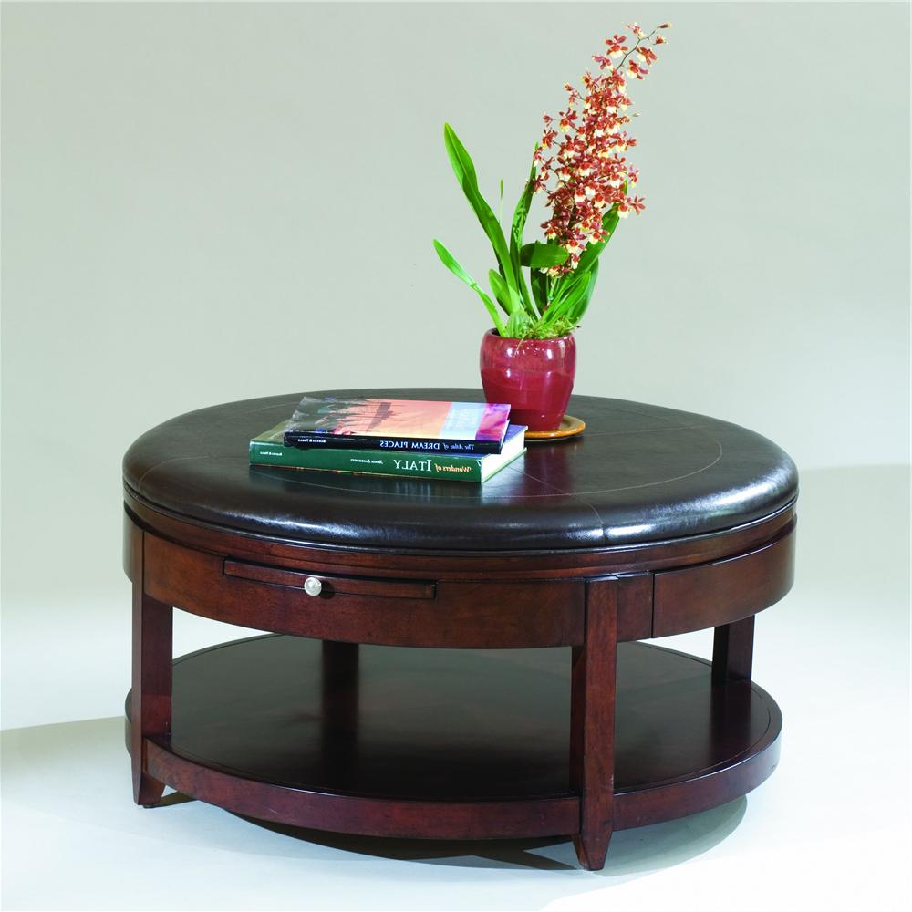 Newest Magnussen Home Brunswick Round Cocktail Table With Casters – Ahfa Regarding Ontario Cocktail Tables With Casters (View 11 of 20)