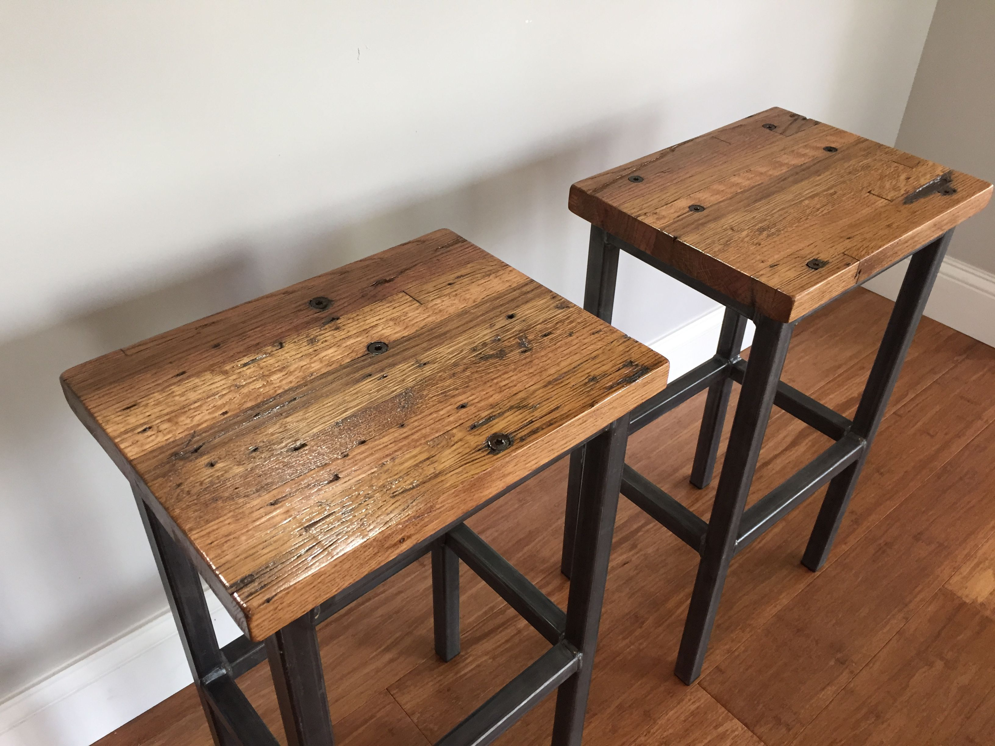 Newest Metal Framed Reclaimed Wood Sideboards Intended For Buy A Hand Crafted Reclaimed Oak Wood Bar Stools W/steel Frames (Gallery 8 of 20)
