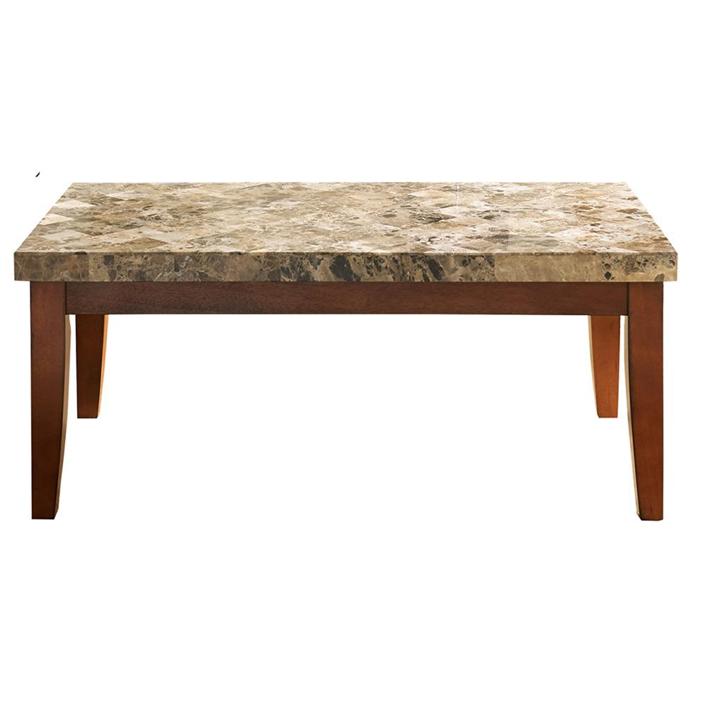 Newest Montibello Spanish Brown Marble Cocktail Table Mn700C – The Home Depot Intended For Spanish Coffee Tables (View 10 of 20)