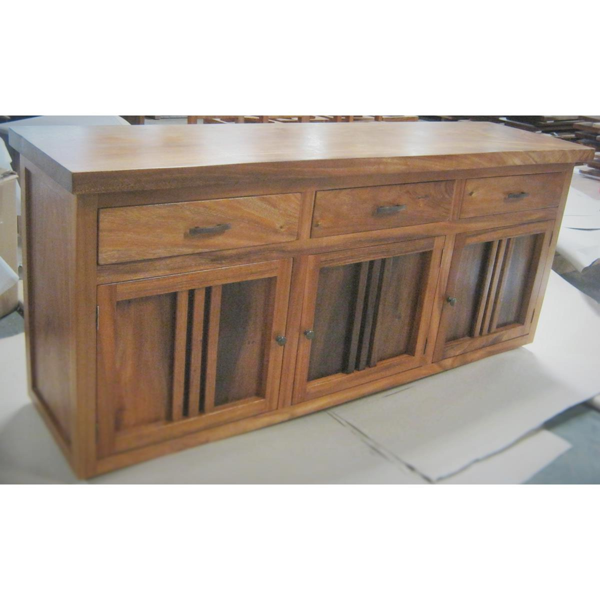 Newest Natural Oak Wood 78 Inch Sideboards With Monsoon Wood   Dining Buffet At Elementfinefurniture Hand Made (Gallery 4 of 20)