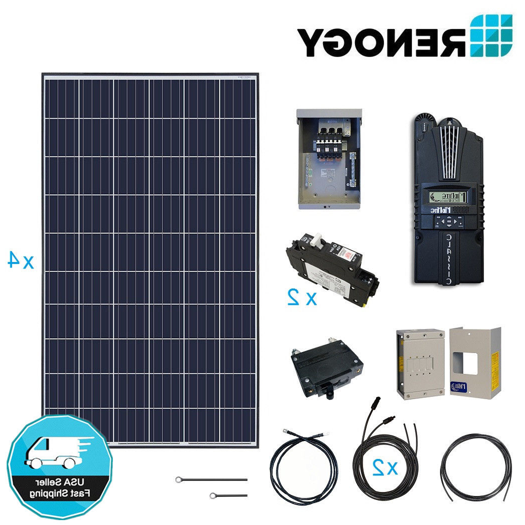 Newest Renogy 1000w 12v Solar Panel Cabin Kit 1000 Watt Off Grid Pv System Throughout Solar Refinement Sideboards (View 15 of 20)