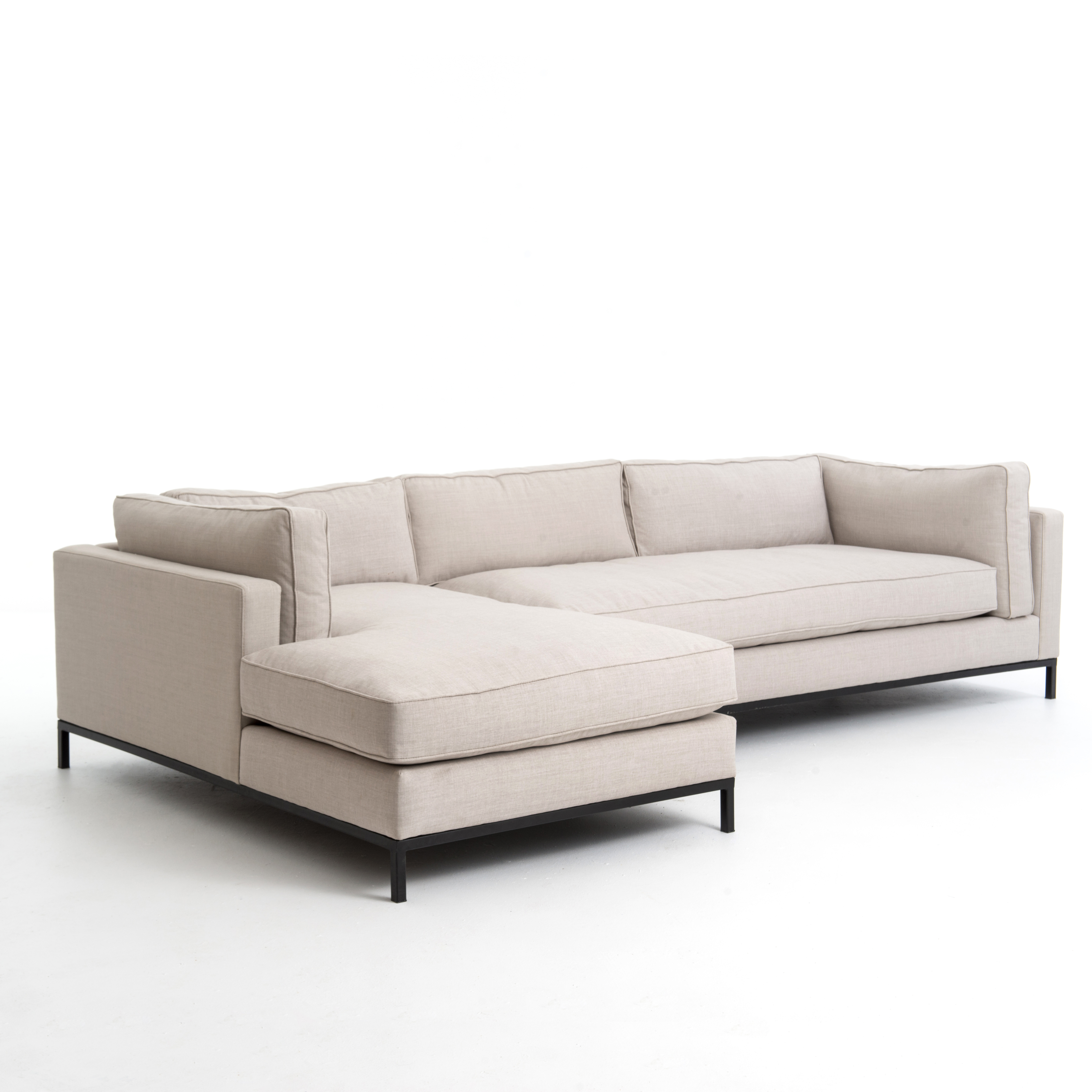 Newest Right Arm Chaise Sectional – Grammercy Sectional – Piece + Palette Throughout Evan 2 Piece Sectionals With Raf Chaise (View 11 of 20)