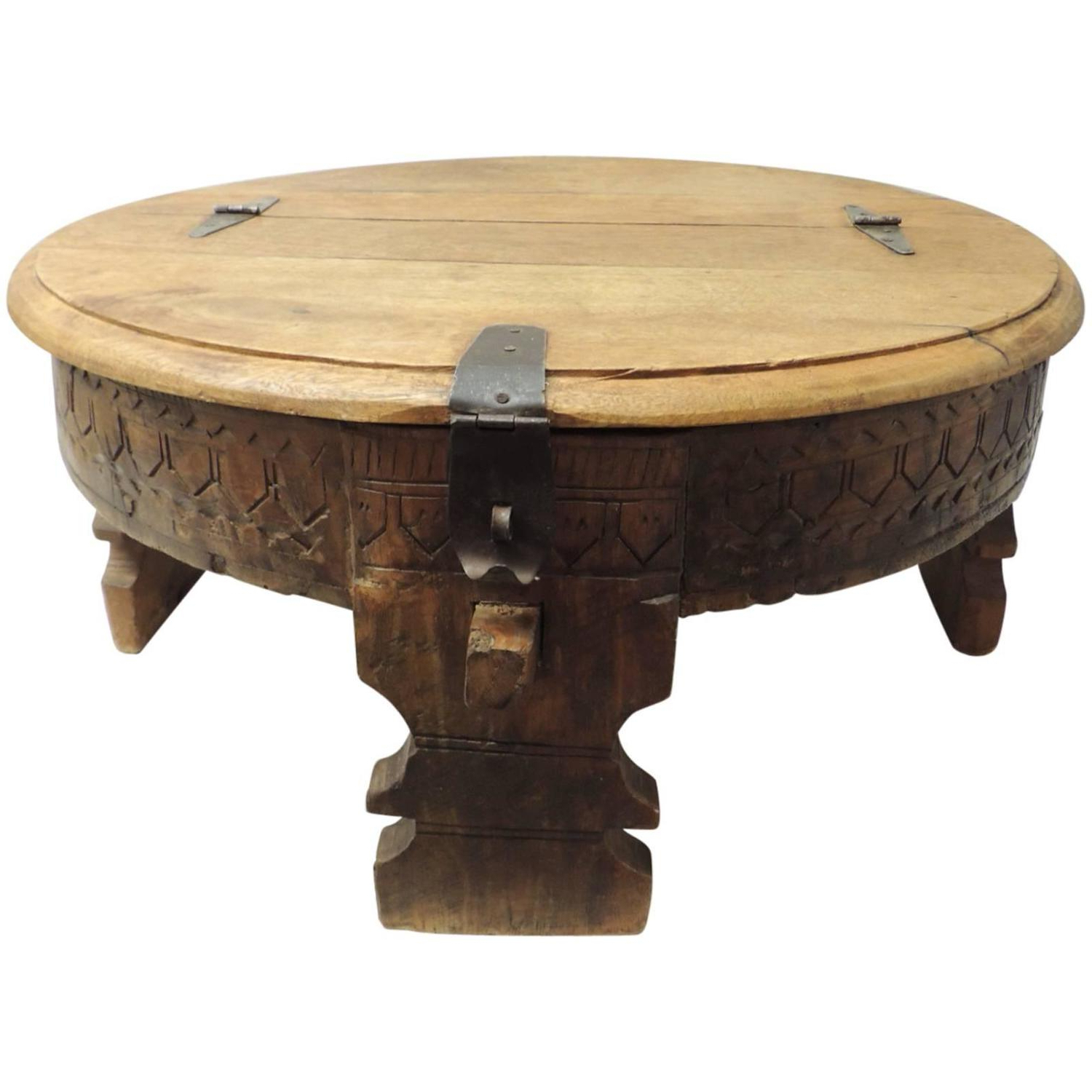 Newest Round Carved Wood Coffee Tables For Carved Wood Coffee Table Carved Wooden Round Coffee Table – Table (View 11 of 20)